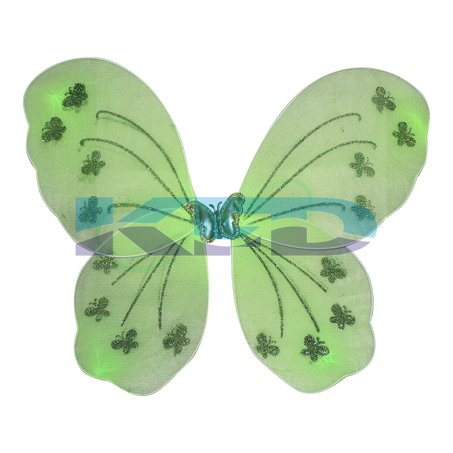 Green Butterfly Wings For Kids School Annual function/Theme Party/Competition/Stage Shows/Birthday Party Dress