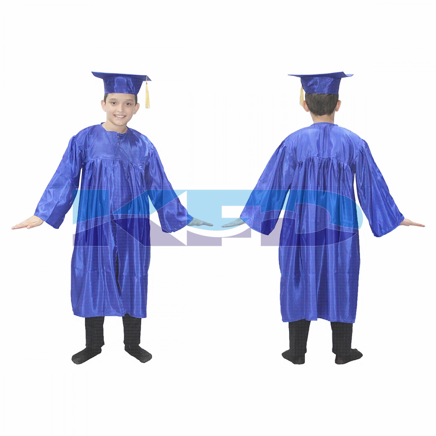 Graduation Gown Blue/Degree Gown Fancy Dress For Kids,Costume For Convocation/Annual Function/Theme Party/Competition/Stage Shows Dress
