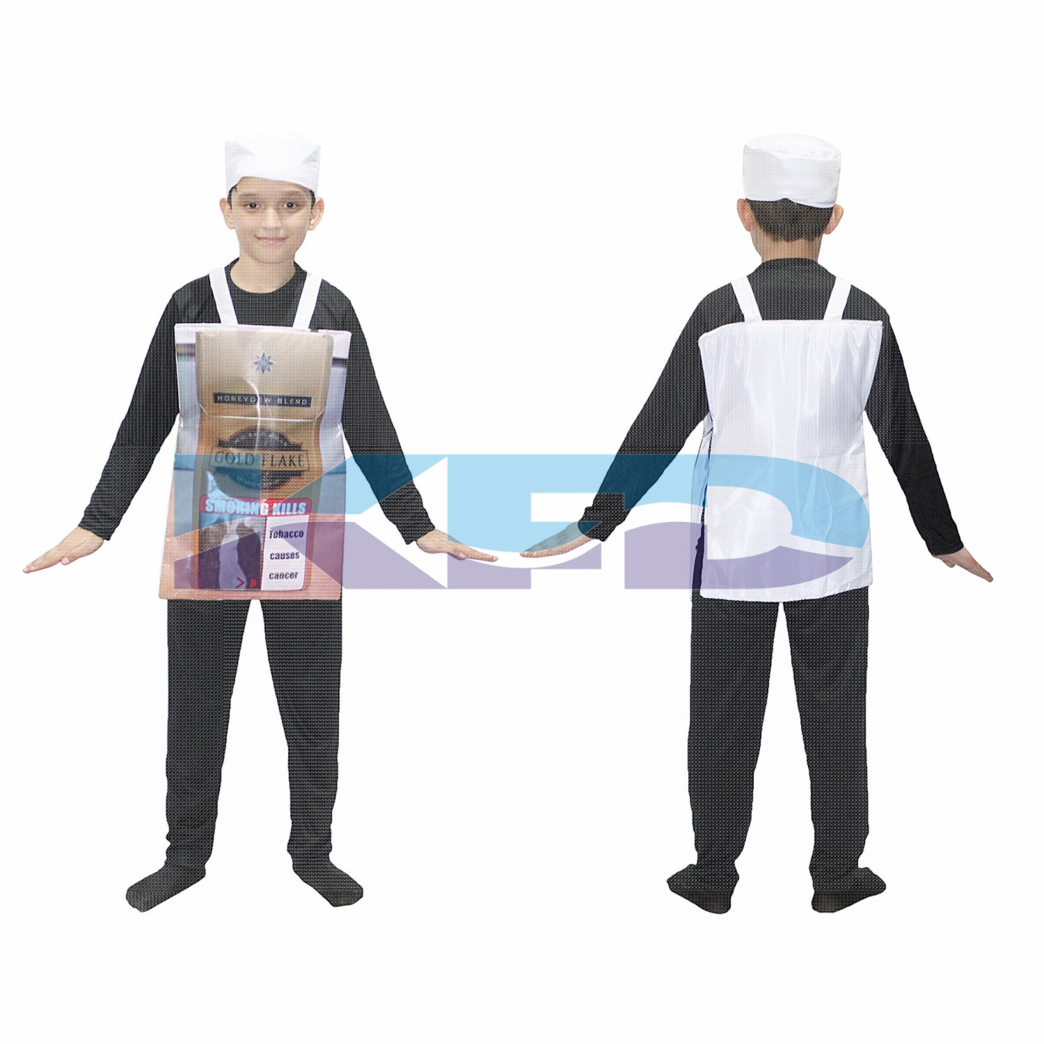 Smoking Cigarette Costume For Kids/Cigarette Fag Packet Novelty Funny Fancy Dress Costume/tobacco cigarette/Object Fancy Dress For Kids/For Kids Annual function/Theme Party/Competition/Stage Shows/Birthday Party Dress