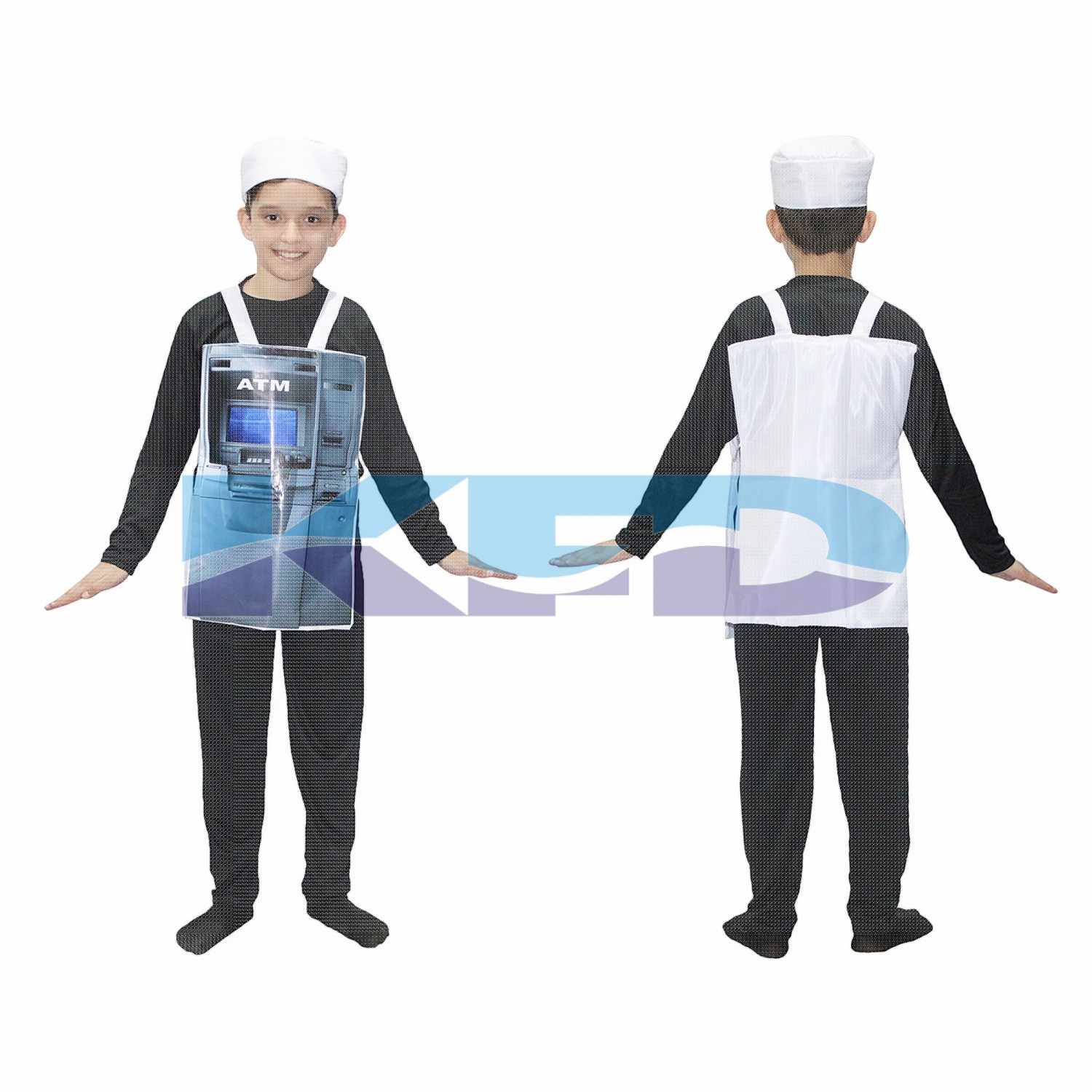 ATM Money Dispensing Machine Kids Fancy Dress Costume/Object Fancy Dress For Kids/For Kids Annual function/Theme Party/Competition/Stage Shows/Birthday Party Dress