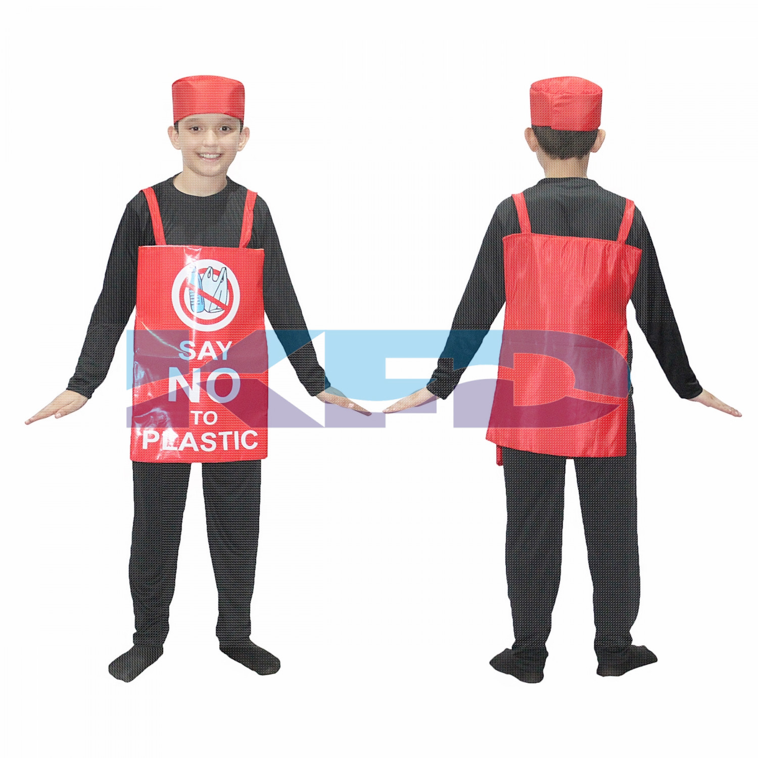 Say No To Plastic Costume For Kids/Social Massage Fancy Dress For Kids/Object Fancy Dress For Kids/For Kids Annual function/Theme Party/Competition/Stage Shows/Birthday Party Dress