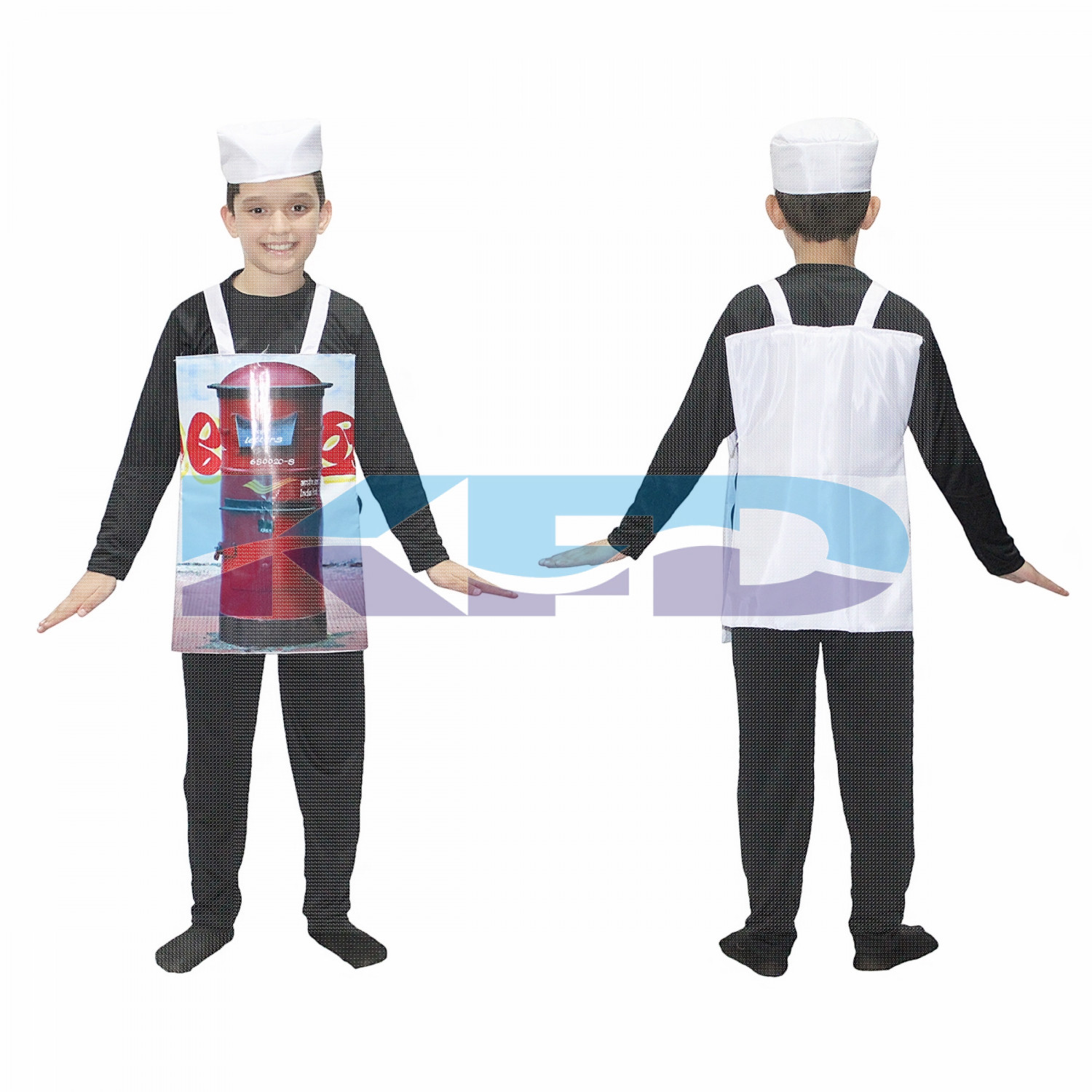 Letter Box Costume For Kids/Postbox Costume For Kids/Object Fancy Dress For Kids/Novelty Post Box Costume/For Kids Annual function/Theme Party/Competition/Stage Shows/Birthday Party Dress