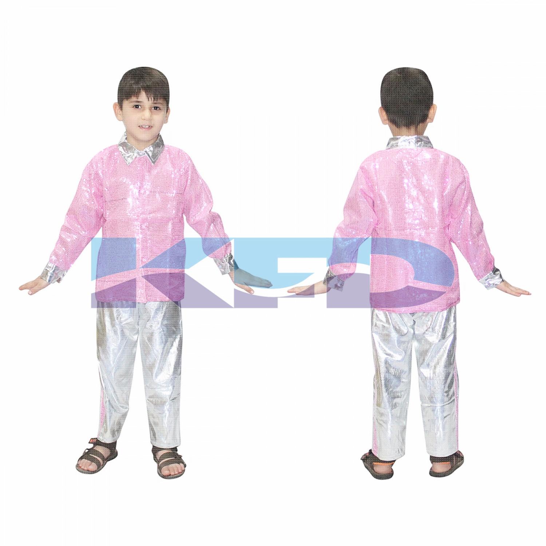Pink Shirt Silver Pant