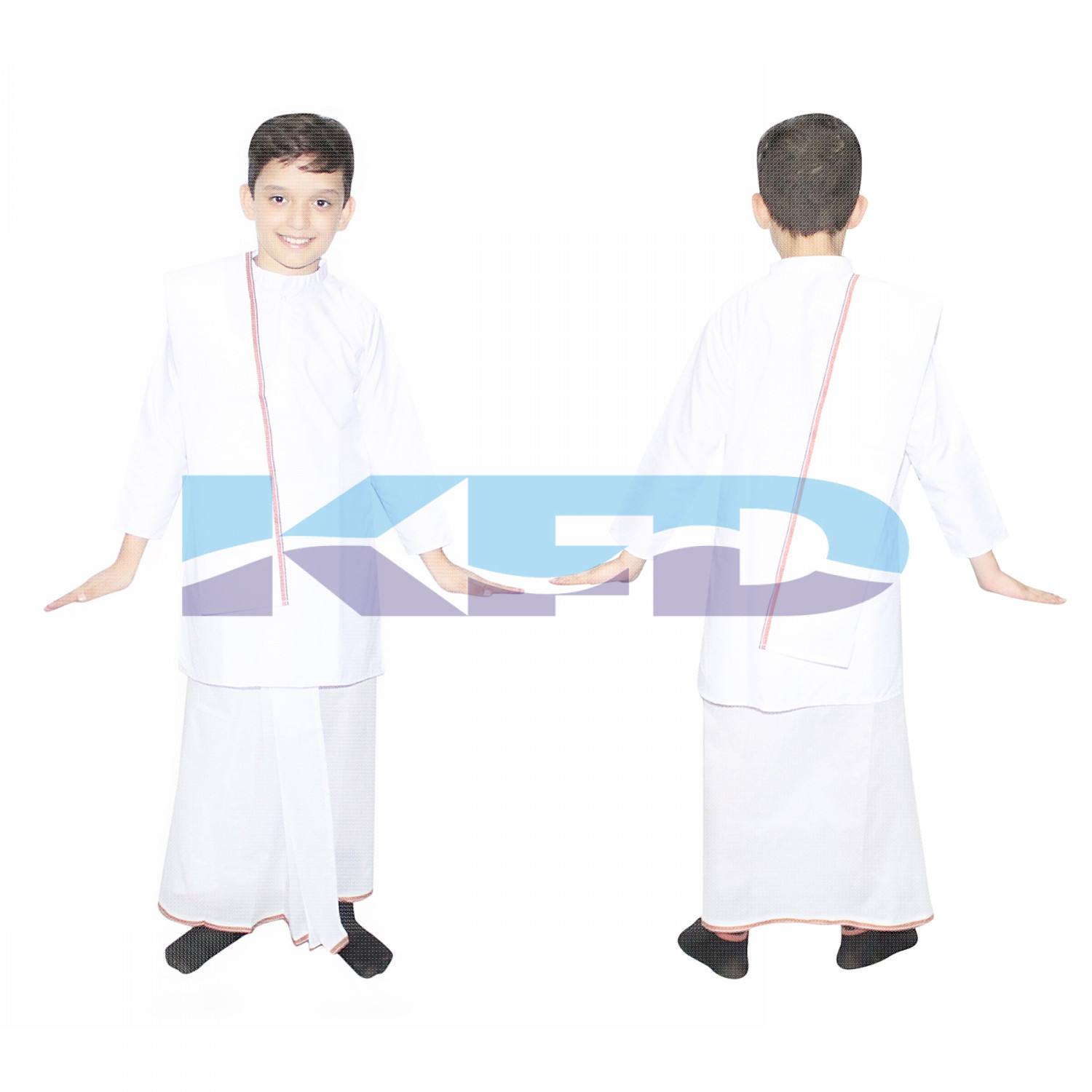 Bengali Boy fancy Dress for kids,Indian State Traditional Wear Costume for School Annual function/Theme Party/Competition/Stage Shows Dress