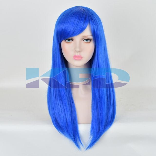 Ladies Hair Wig Blue Color