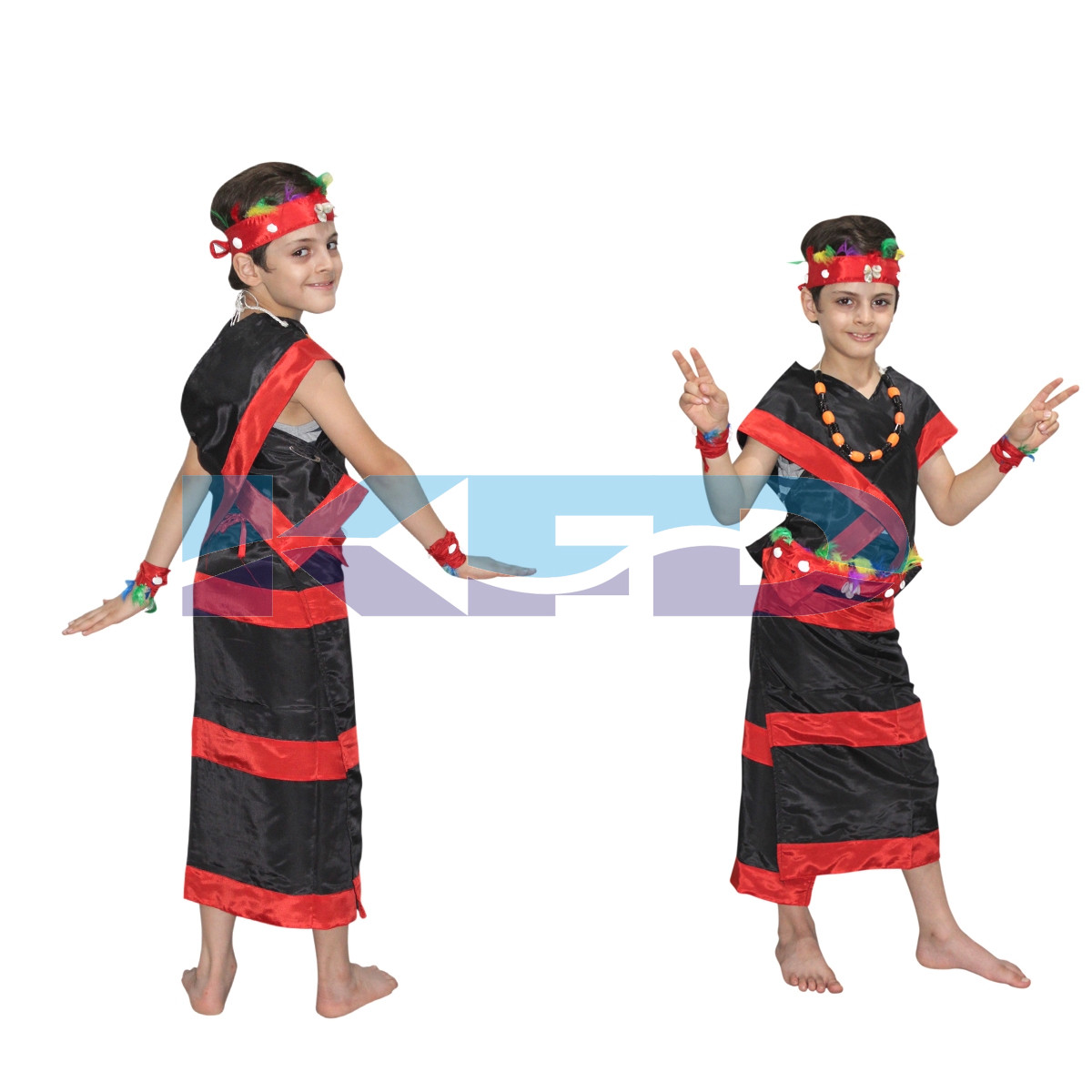 Nagaland boy fancy dress for kids,Trible costume for School Annual function/Theme Party/Competition/Stage Shows Dress