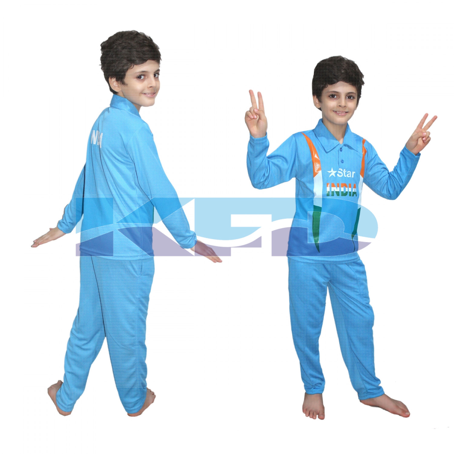 India Cricket Team fancy dress for kids,National Hero Costume for Independence Day/Republic Day/Annual function/Theme Party/Competition/Stage Shows Dress