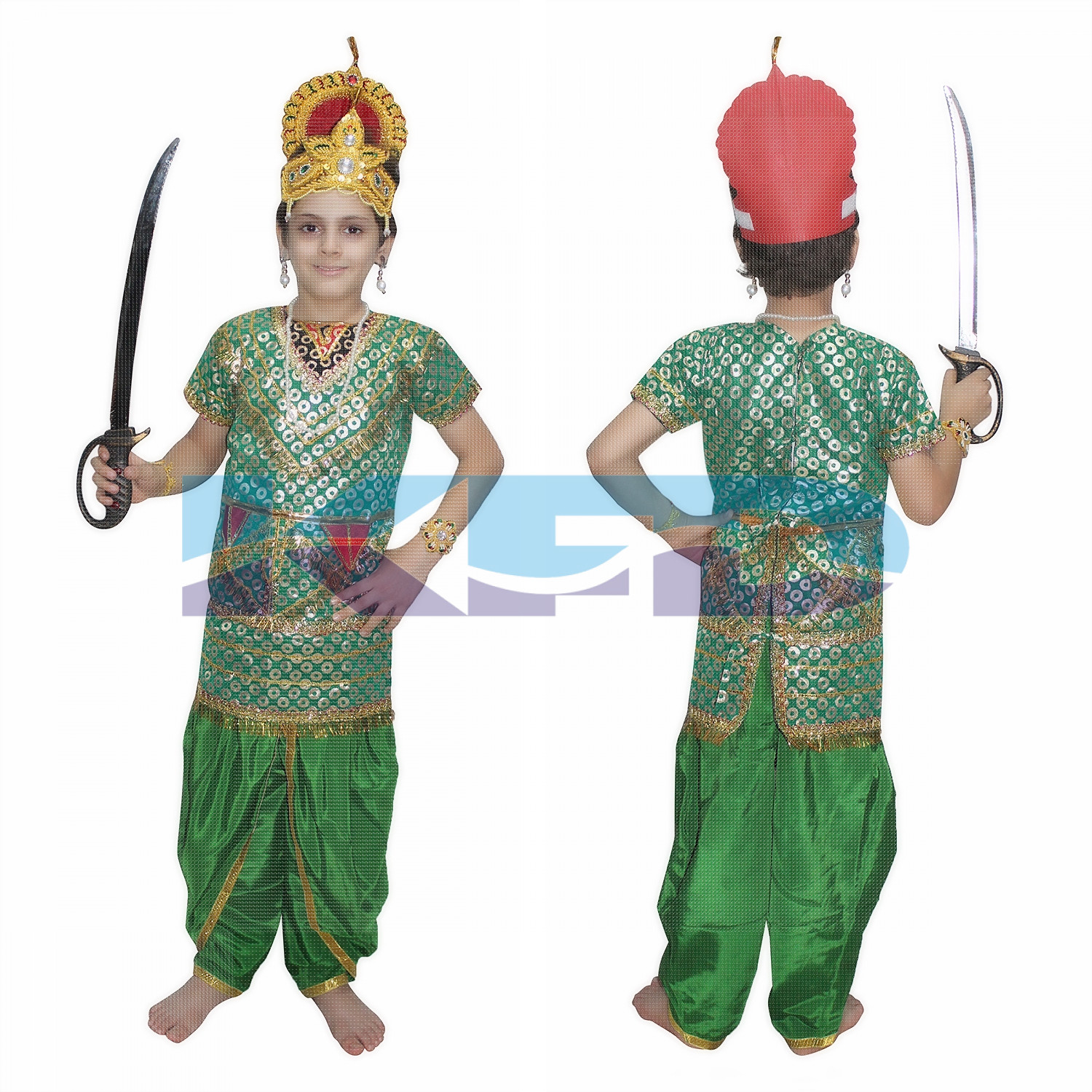 Kumbhkaran fancy dress for kids,Ramleela/Dussehra/Mythological Character for Annual function/Theme Party/Competition/Stage Shows Dress