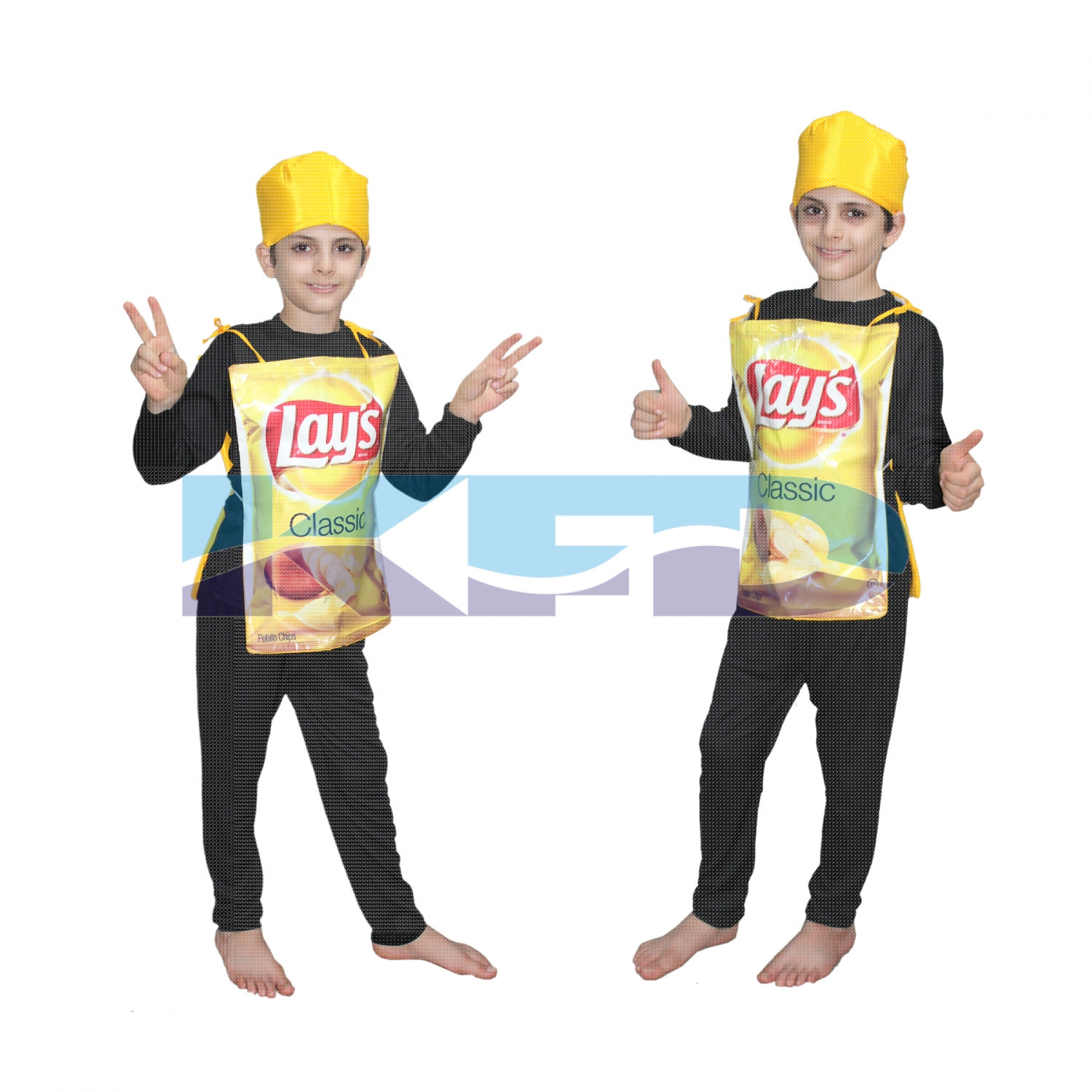 Lays fancy dress for kids,Object Costume for School Annual function/Theme Party/Competition/Stage Shows Dress