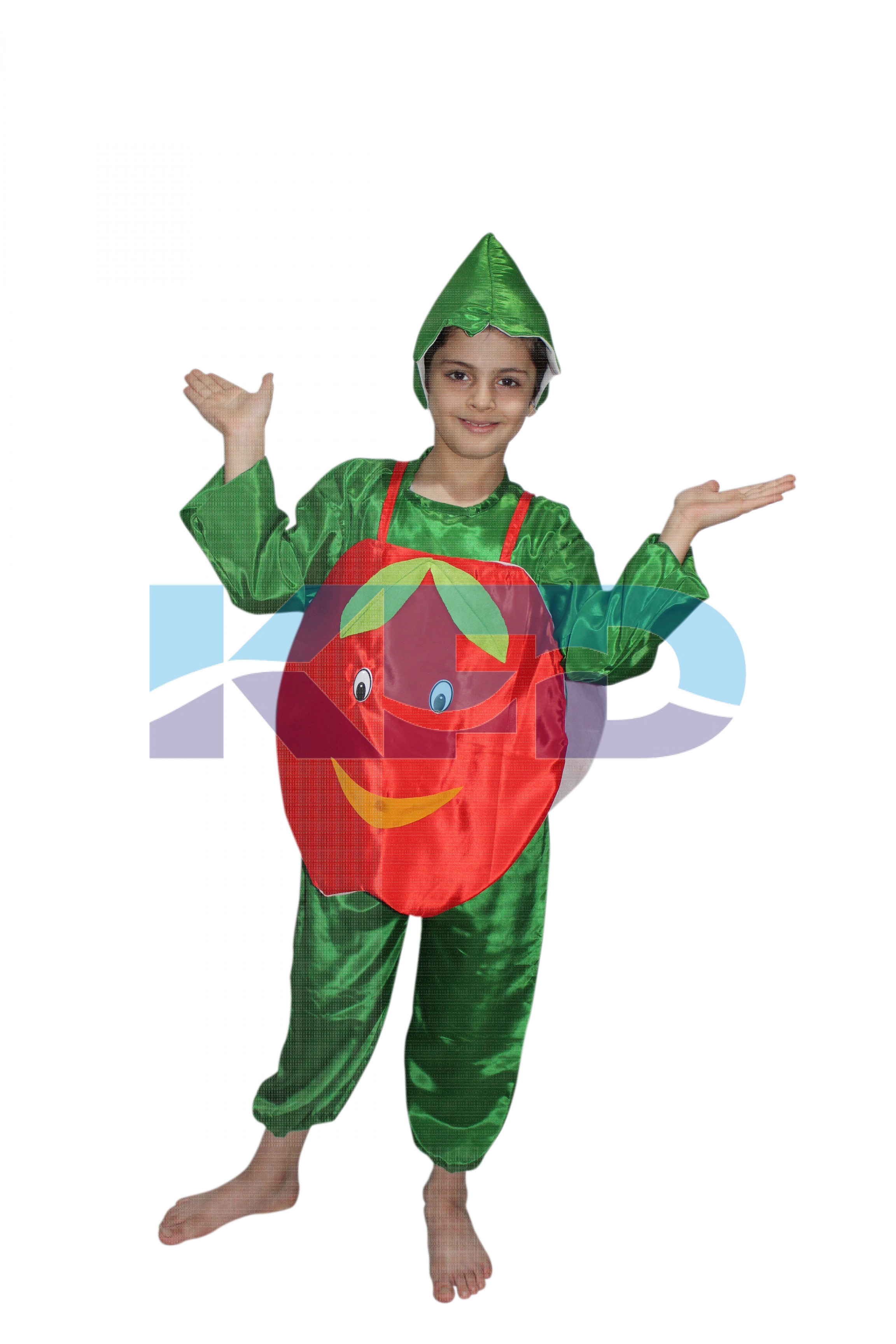 Apple fancy dress for kids,Fruits Costume for School Annual function/Theme Party/Competition/Stage Shows Dress