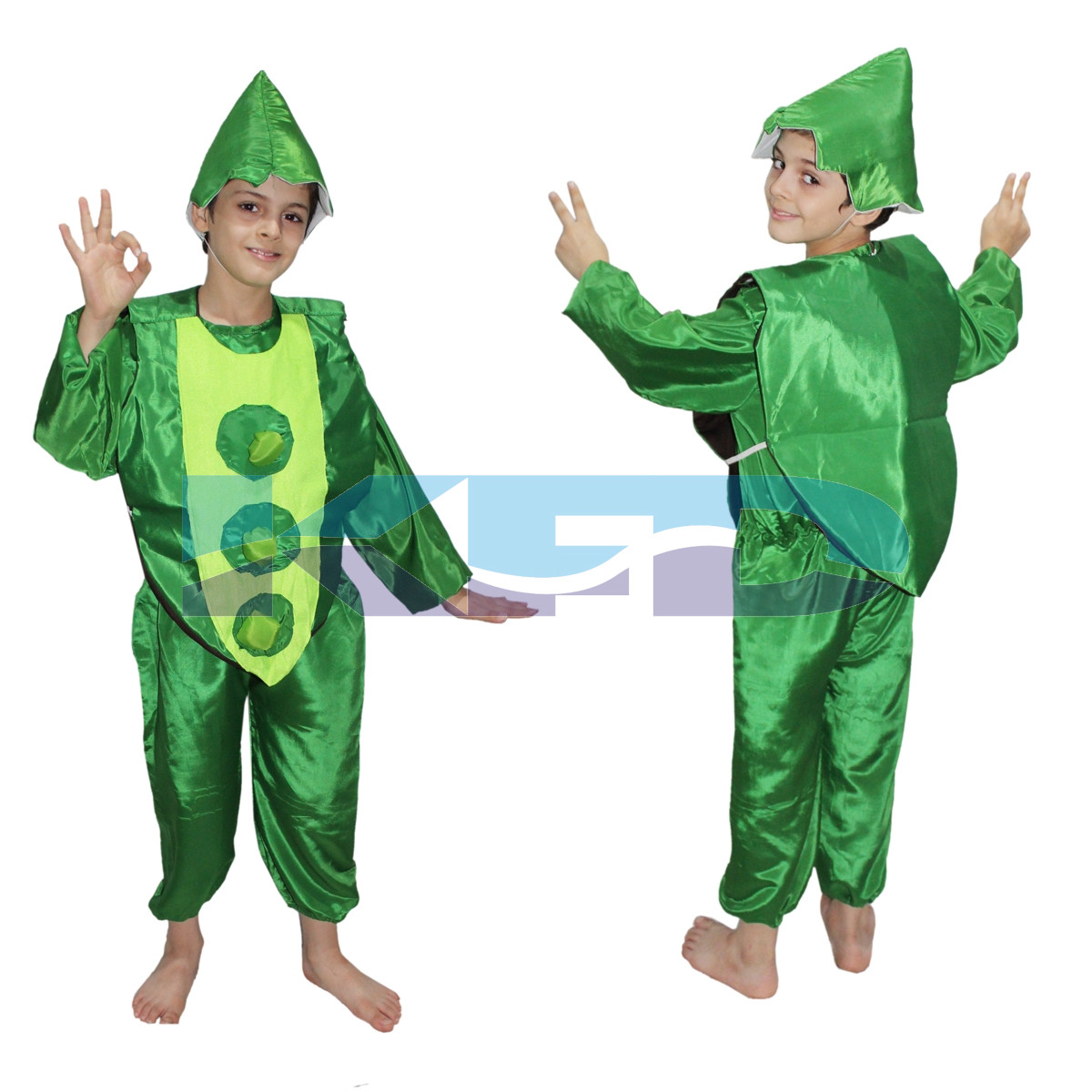 Peas fancy dress for kids,Vegetables Costume for School Annual function/Theme Party/Competition/Stage Shows Dress