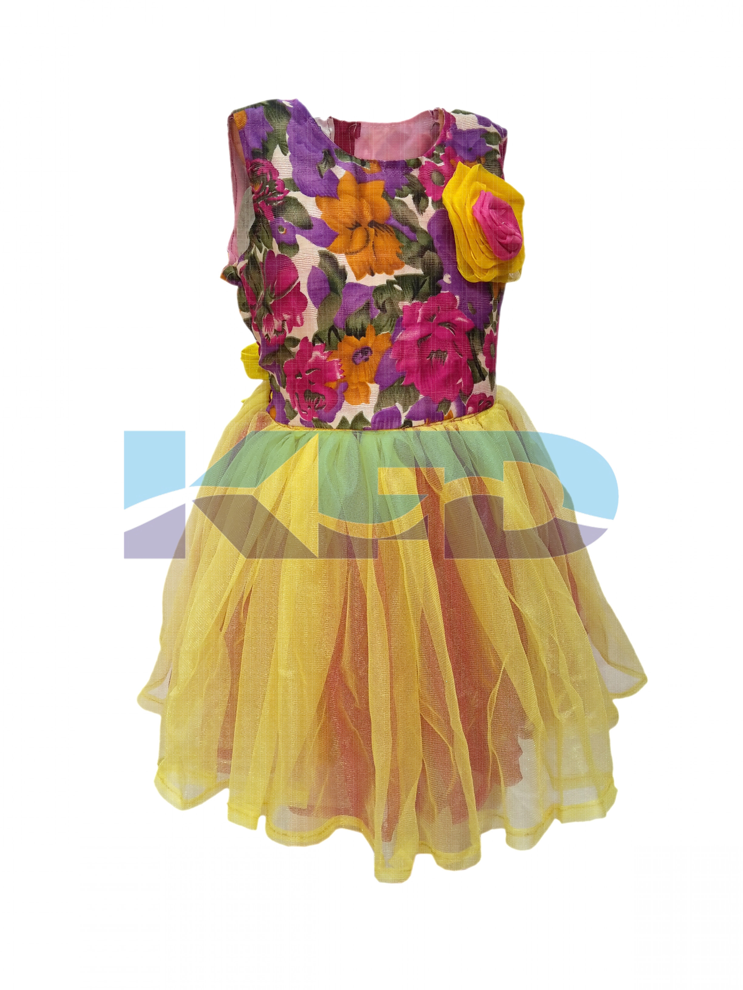 Flower Frock fancy dress for kids,Western Costume for School Annual function/Theme Party/Competition/Stage Shows/Birthday Party Dress