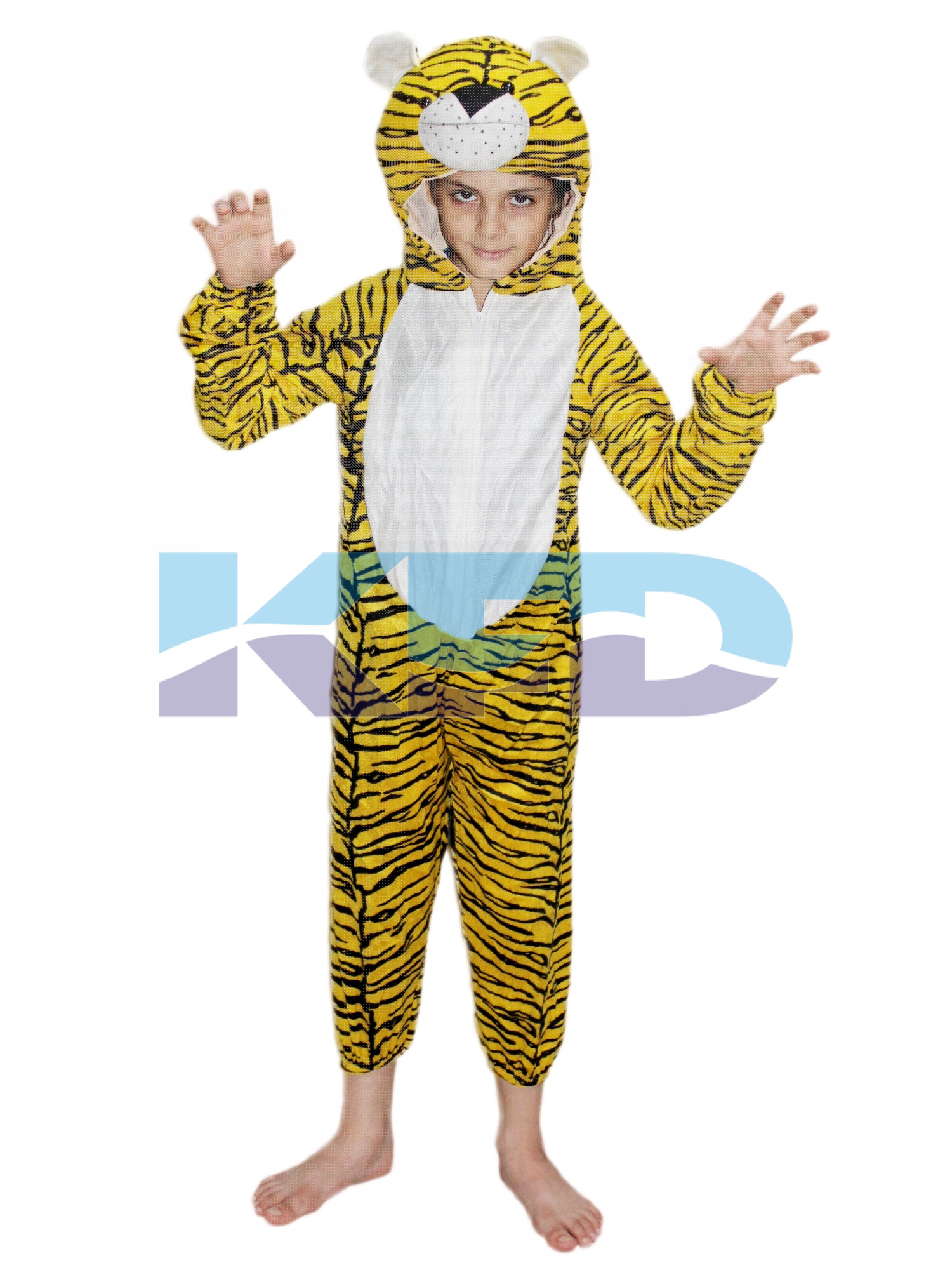 Tiger fancy dress for kids,Wild Animal Costume for Annual function/Theme party/Competition/Stage Shows/Birthday Party Dress