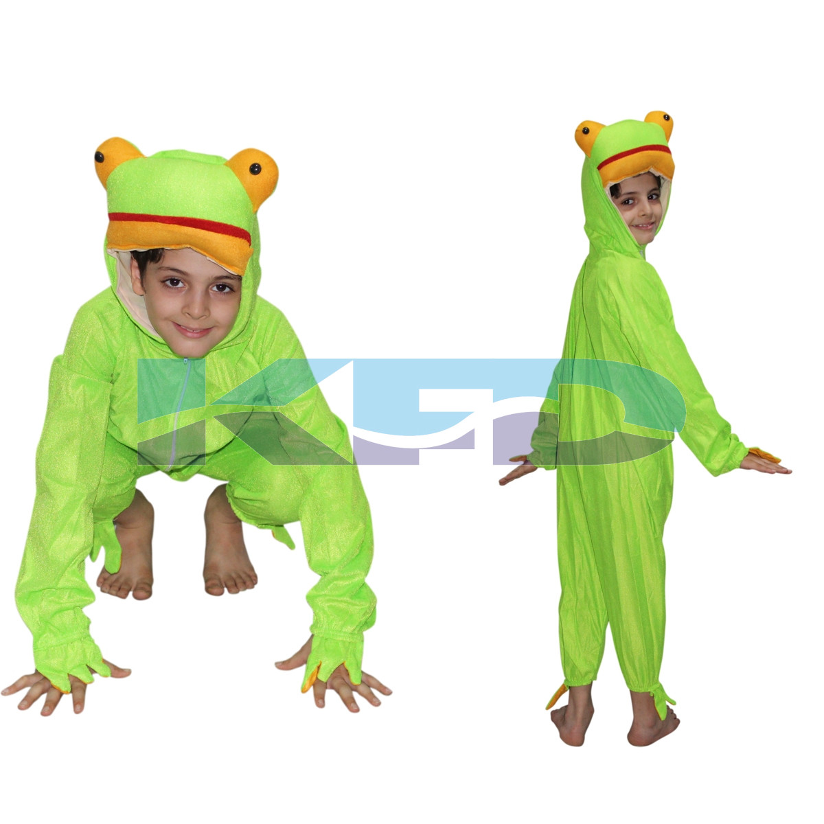 Frog fancy dress for kids,Water Animal Costume for School Annual function/Theme Party/Competition/Stage Shows/Birthday Party Dress