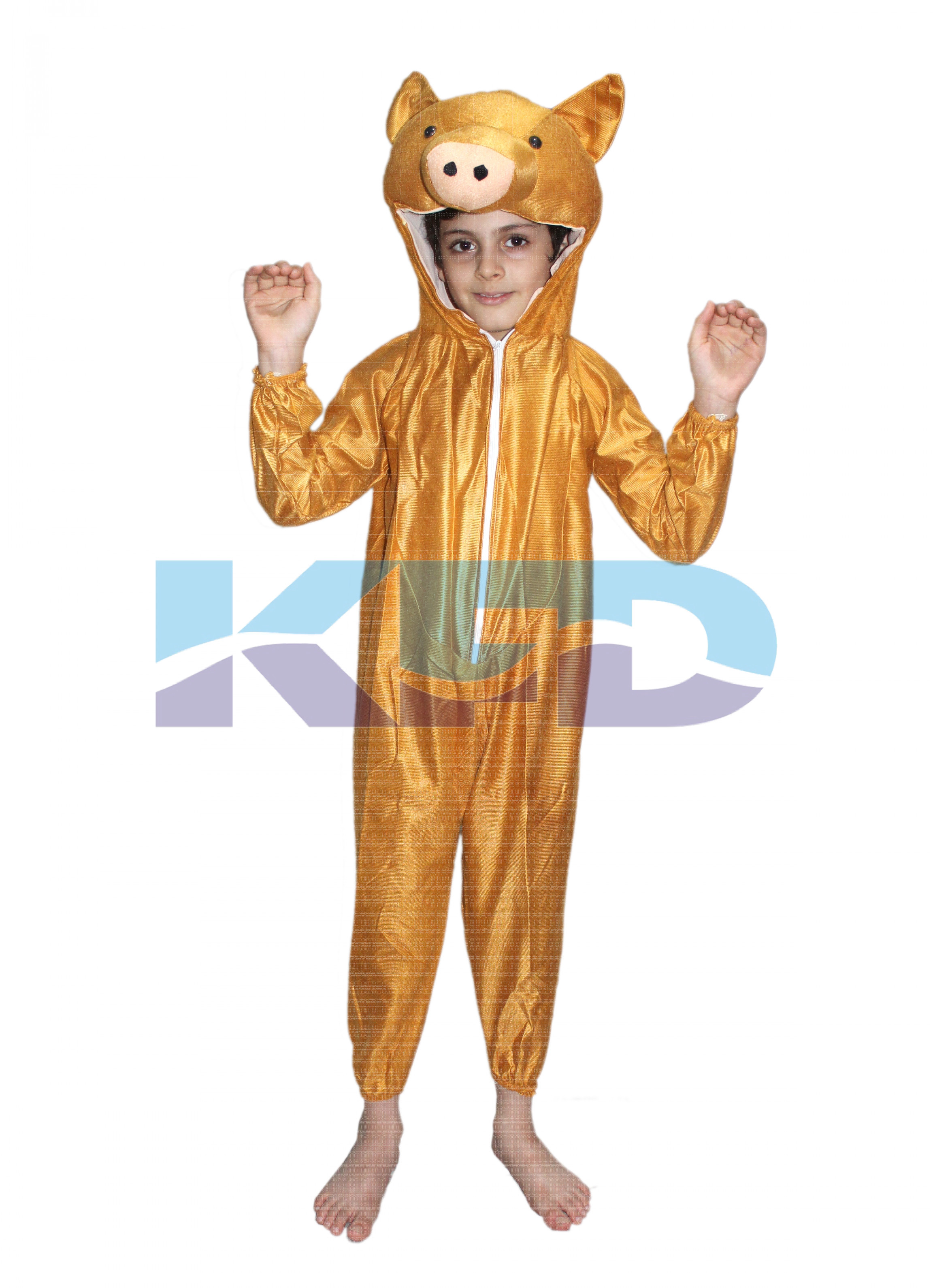 Brown Pig fancy dress for kids,Farm Animal Costume for School Annual function/Theme Party/Competition/Stage Shows Dress