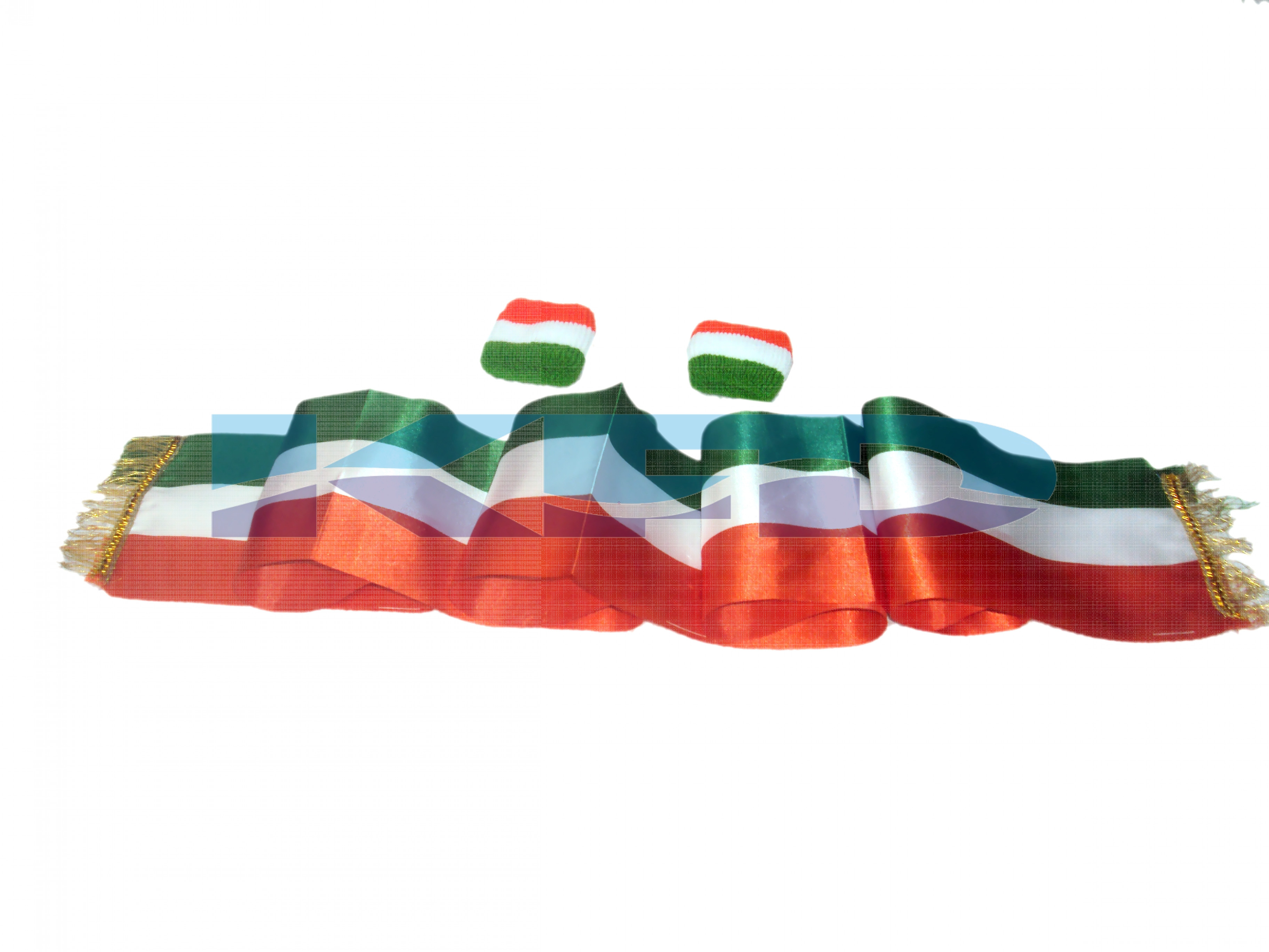 Tri Color Stall/Wrist Band 6 Pieces Set For Independence Day/Republic Day/School Annual function/Theme Party/Competition/Stage Shows/Birthday Party Dress(6 pcs set)