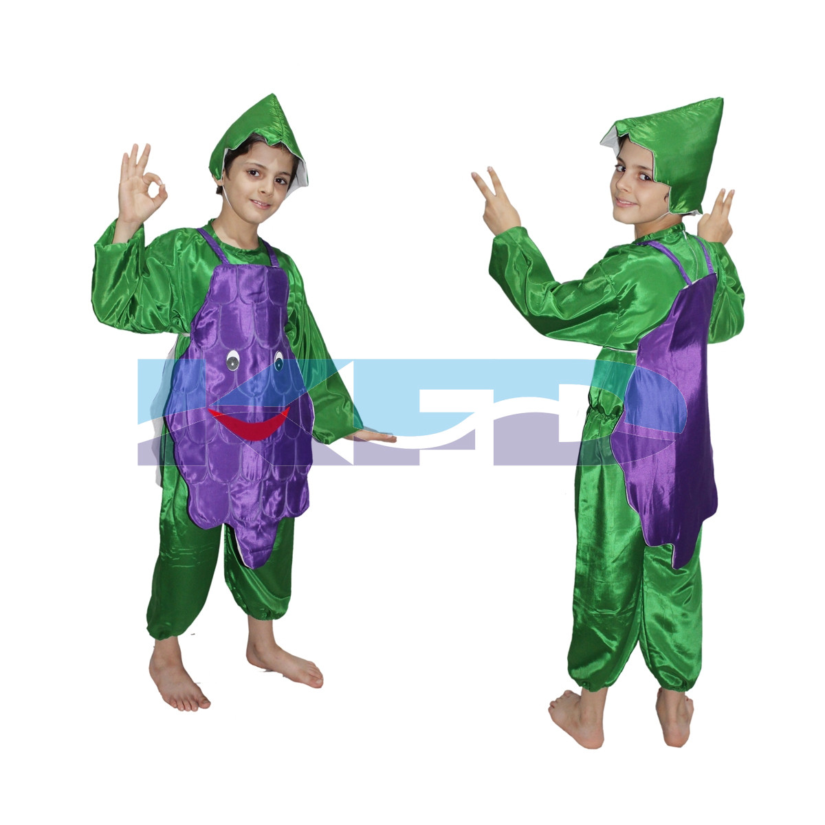 Grapes fancy dress for kids,Fruits Costume for School Annual function/Theme Party/Competition/Stage Shows Dress