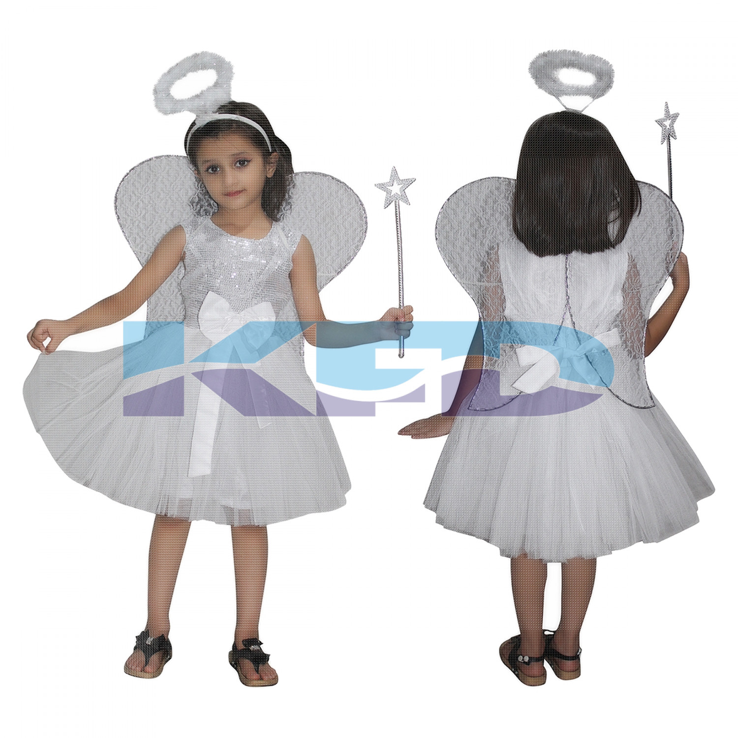 Angel Fancy Dress for kids,Fairy Teles,Story book Costume for Annual function/Theme Party/Competition/Stage Shows/Birthday Party Dress