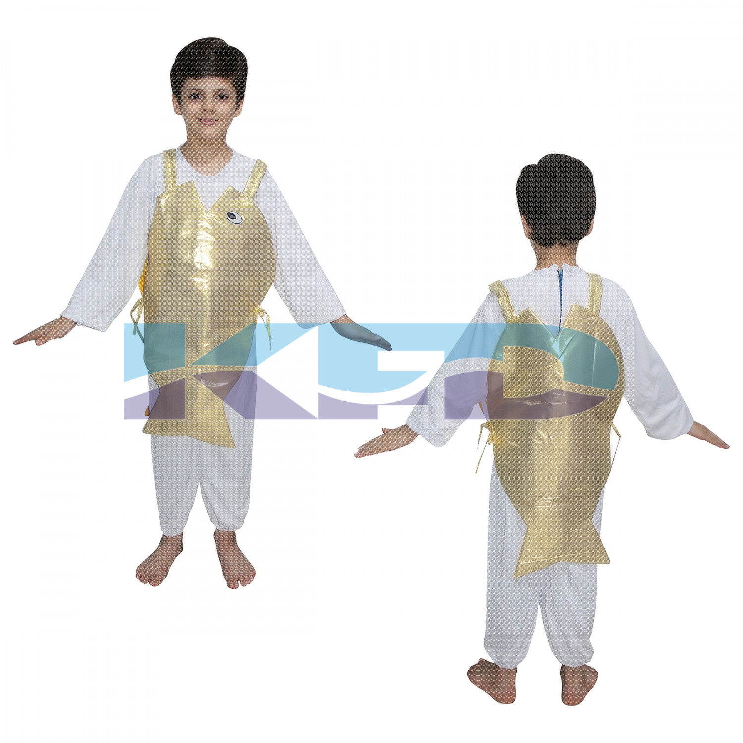 Golden Fish fancy dress for kids,Insect Costume for School Annual function/Theme Party/Competition/Stage Shows Dress