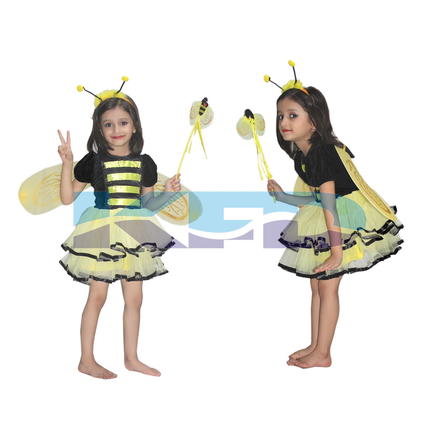 Bumbel Bee Girl fancy dress for kids,Insect Costume for Annual function/Theme Party/Competition/Stage Shows Dress