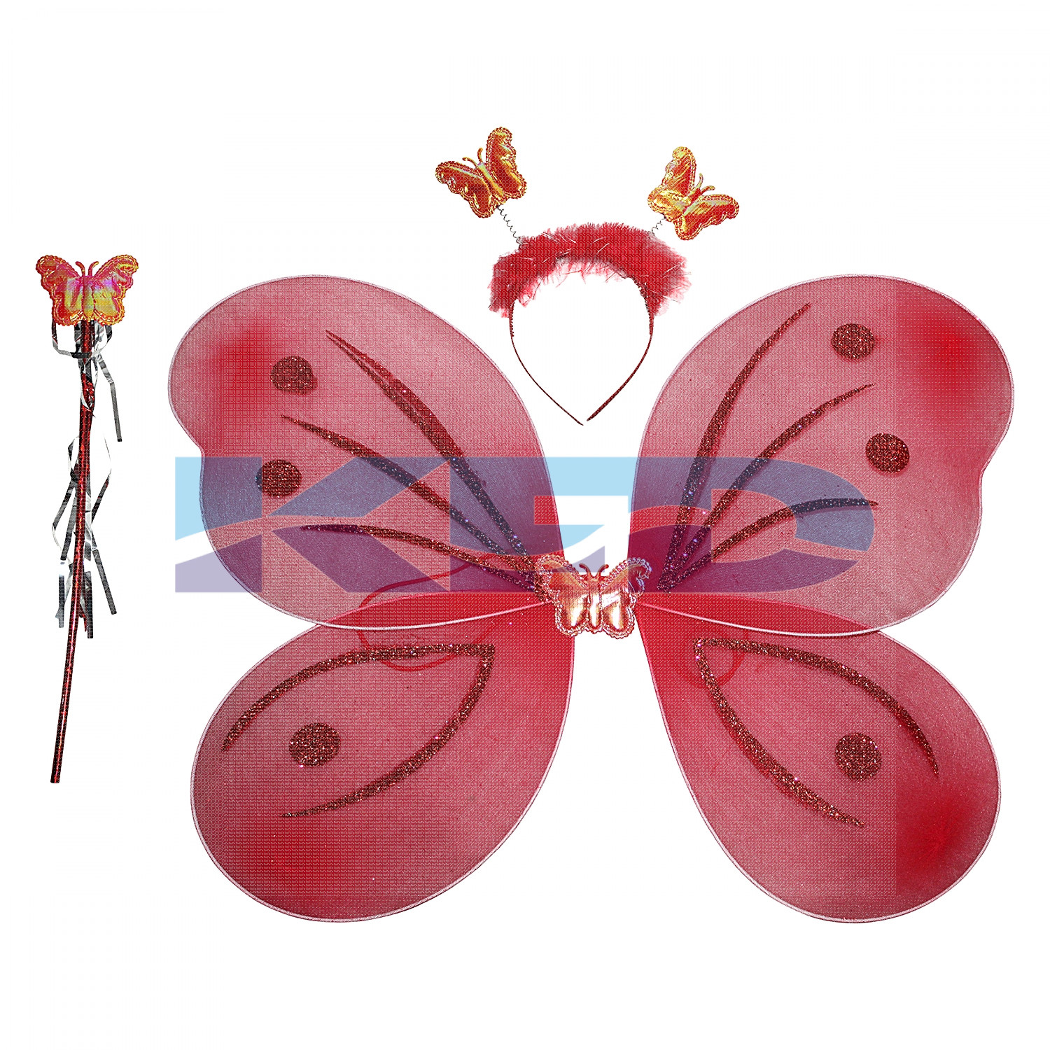 Butterfly wings in Red color accessories for Kids,Boys and Girls