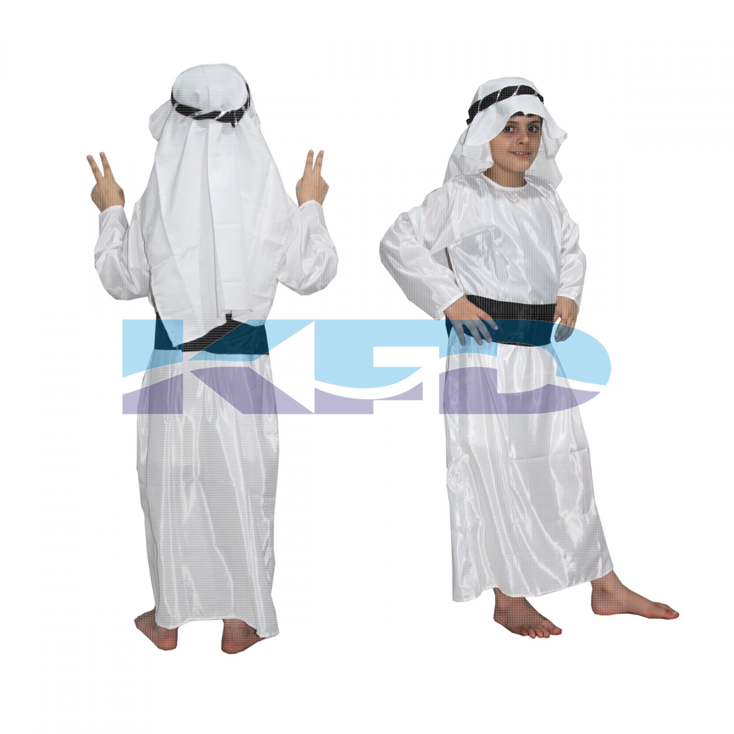 Shepherd/Arabian Shaikh Traditional Wear Global Costume For Kids School Annual function/Theme Party/Competition/Stage Shows Dress