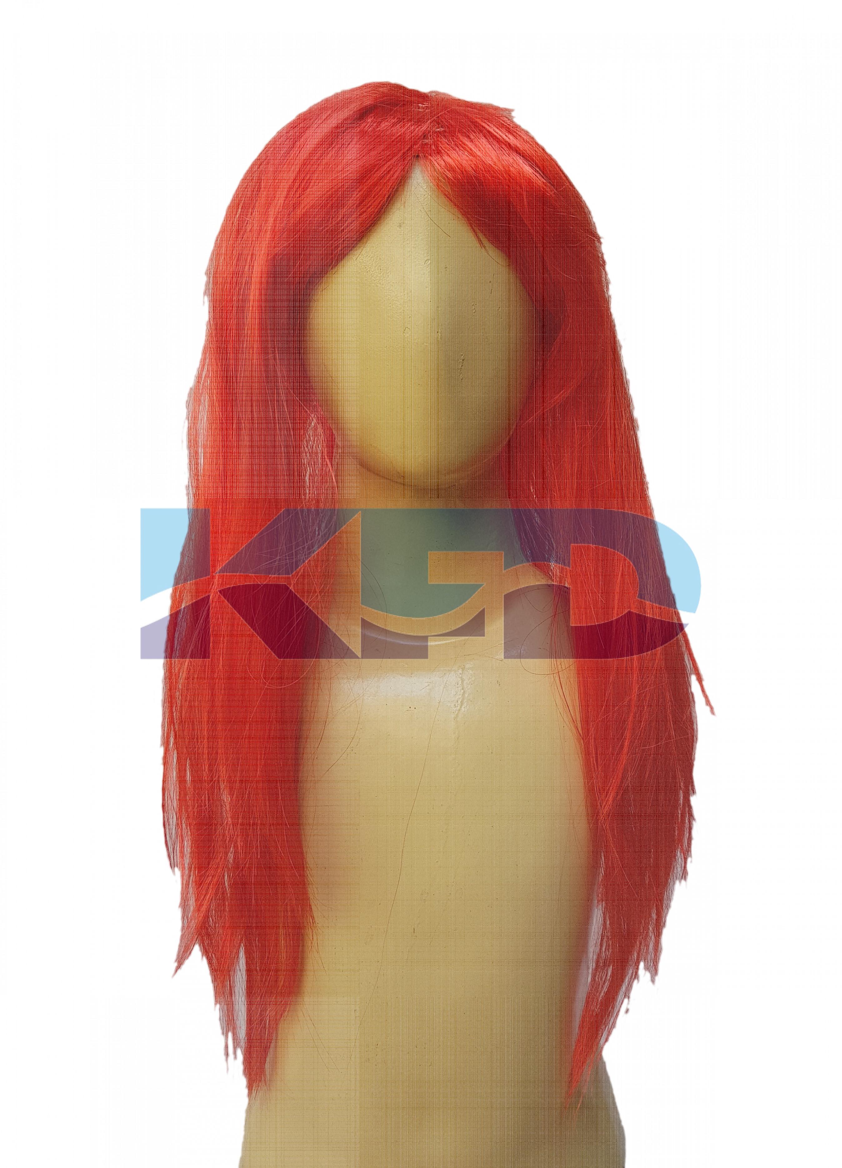 Ladies Hair Wig Red Color