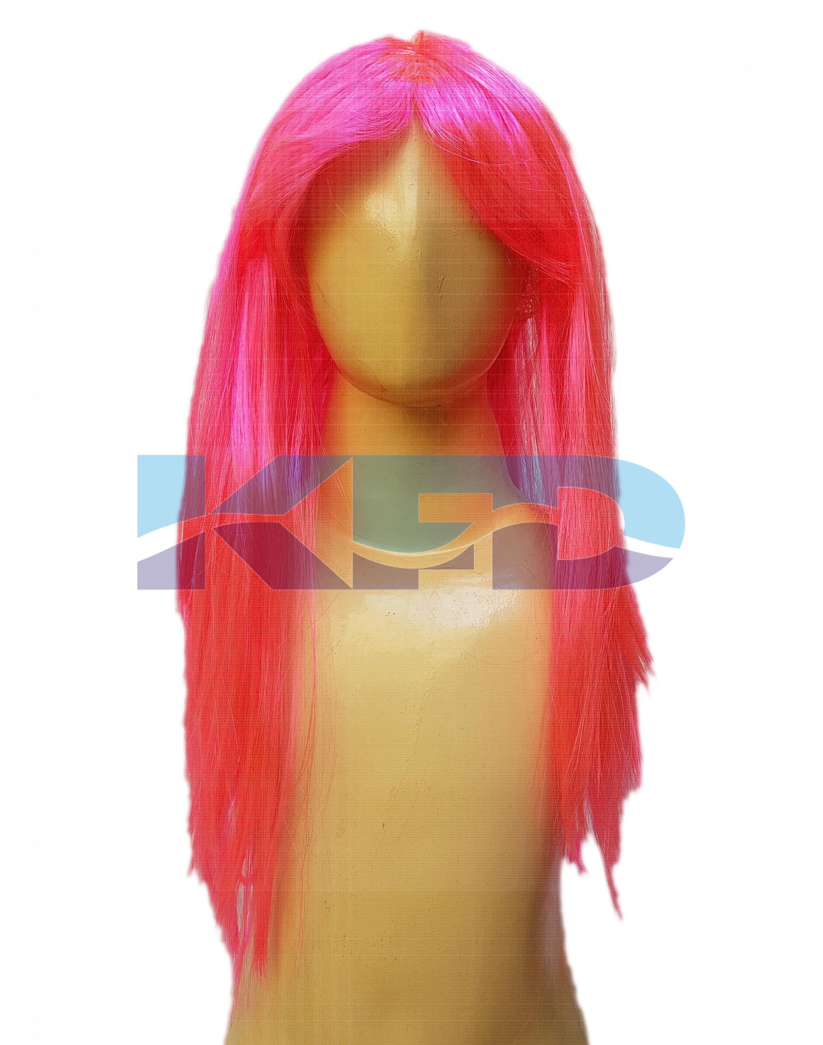 Ladies Hair Wig Pink color