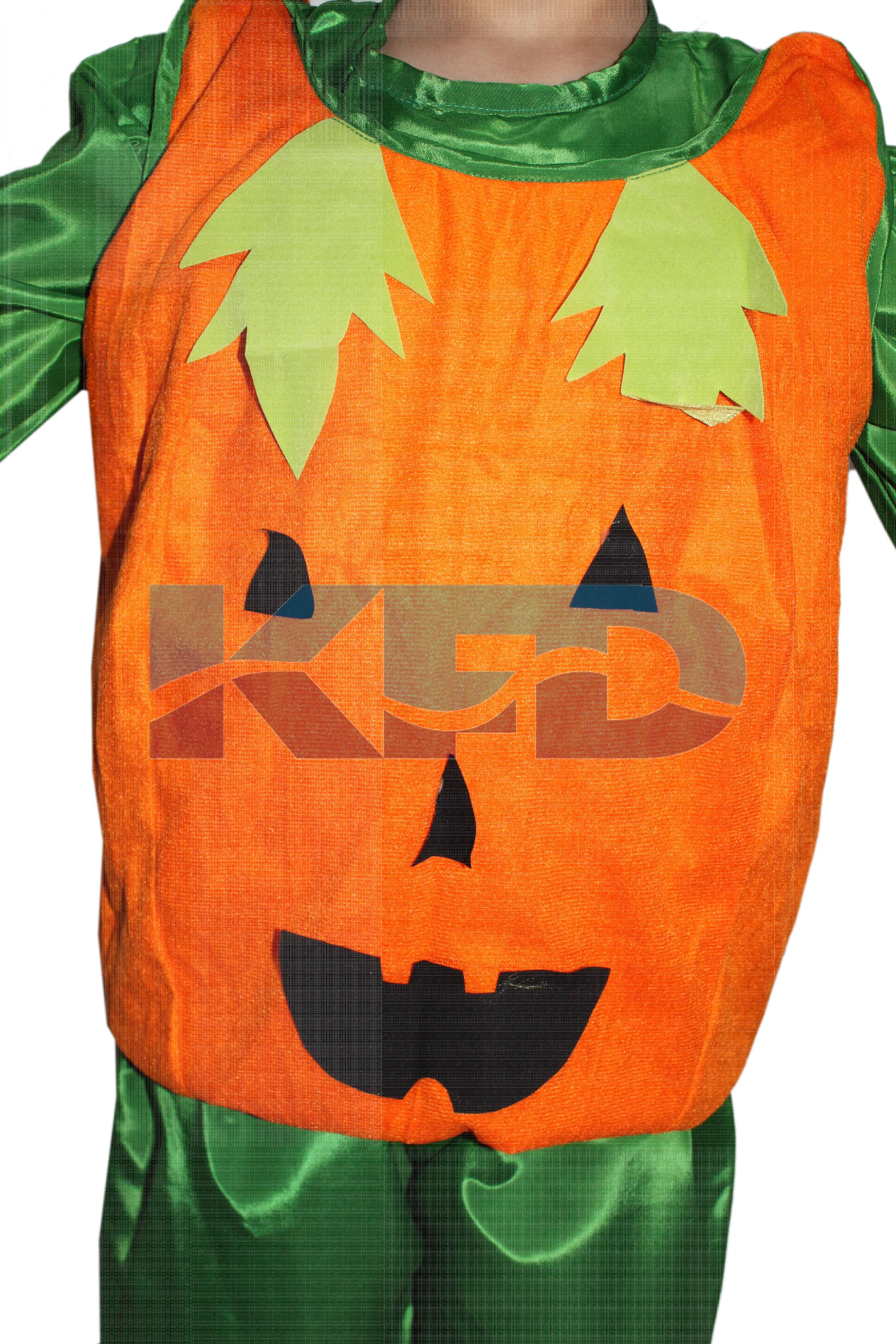 Pumpkin Vegetables Costume only cutout with Cap for Annual function/Theme Party/Competition/Stage Shows/Birthday Party Dress