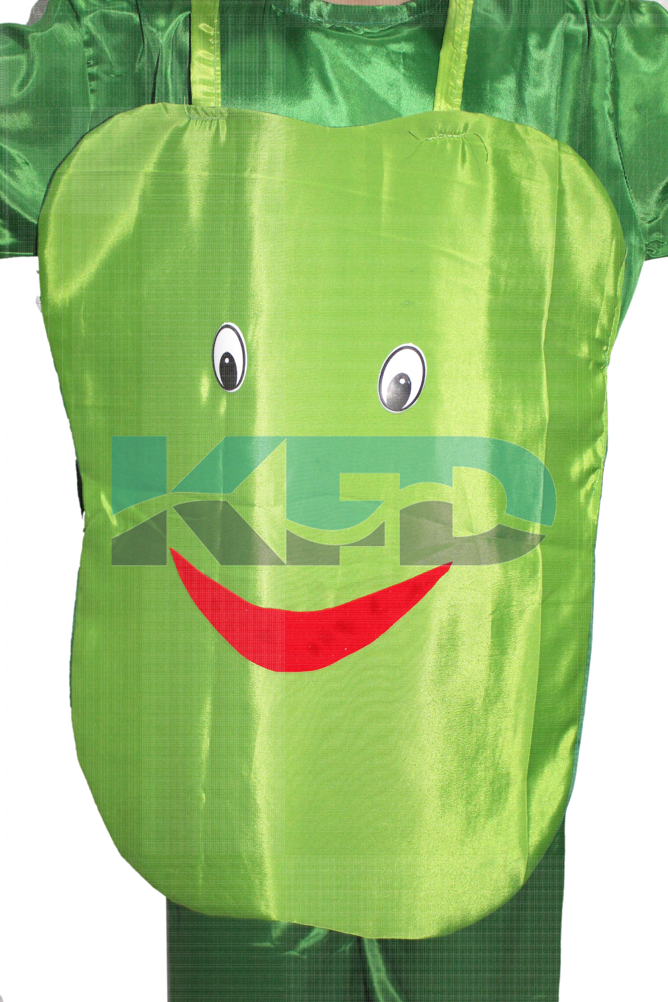 Capsicum Vegetables Costume only cutout with Cap for Annual function/Theme Party/Competition/Stage Shows/Birthday Party Dress