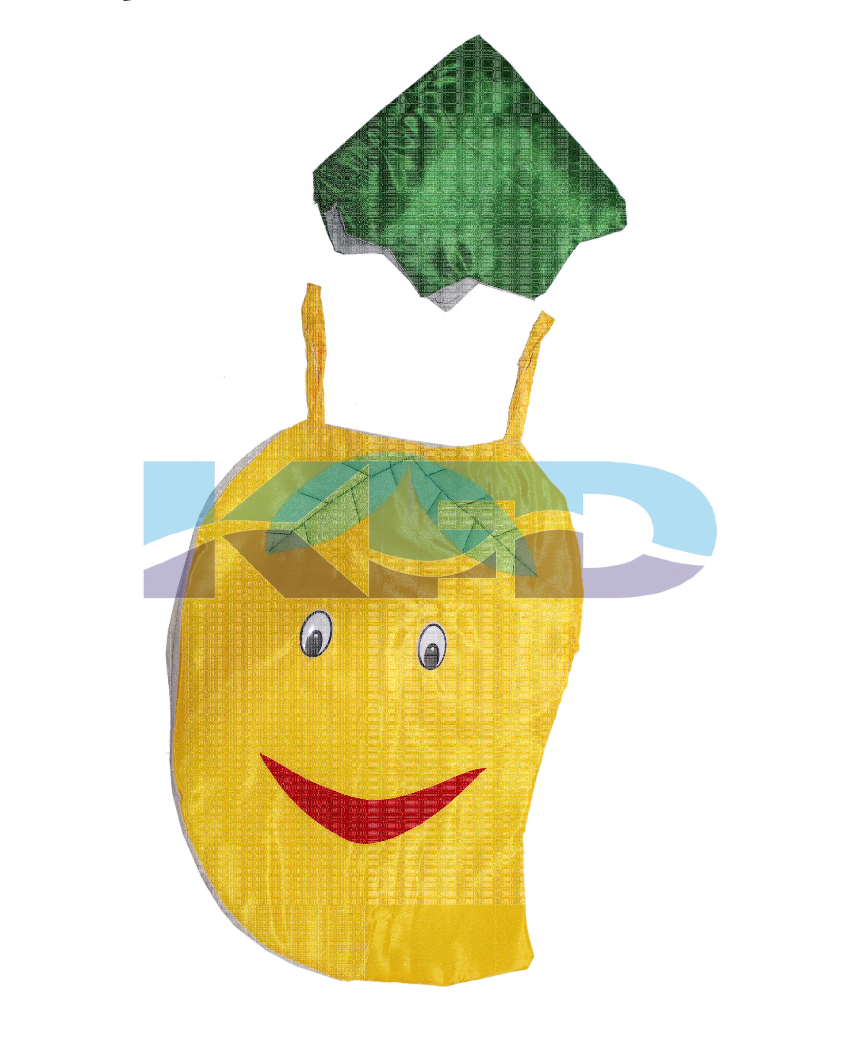 Mango Fruits Costume only cutout with Cap for Annual function/Theme Party/Competition/Stage Shows/Birthday Party Dress
