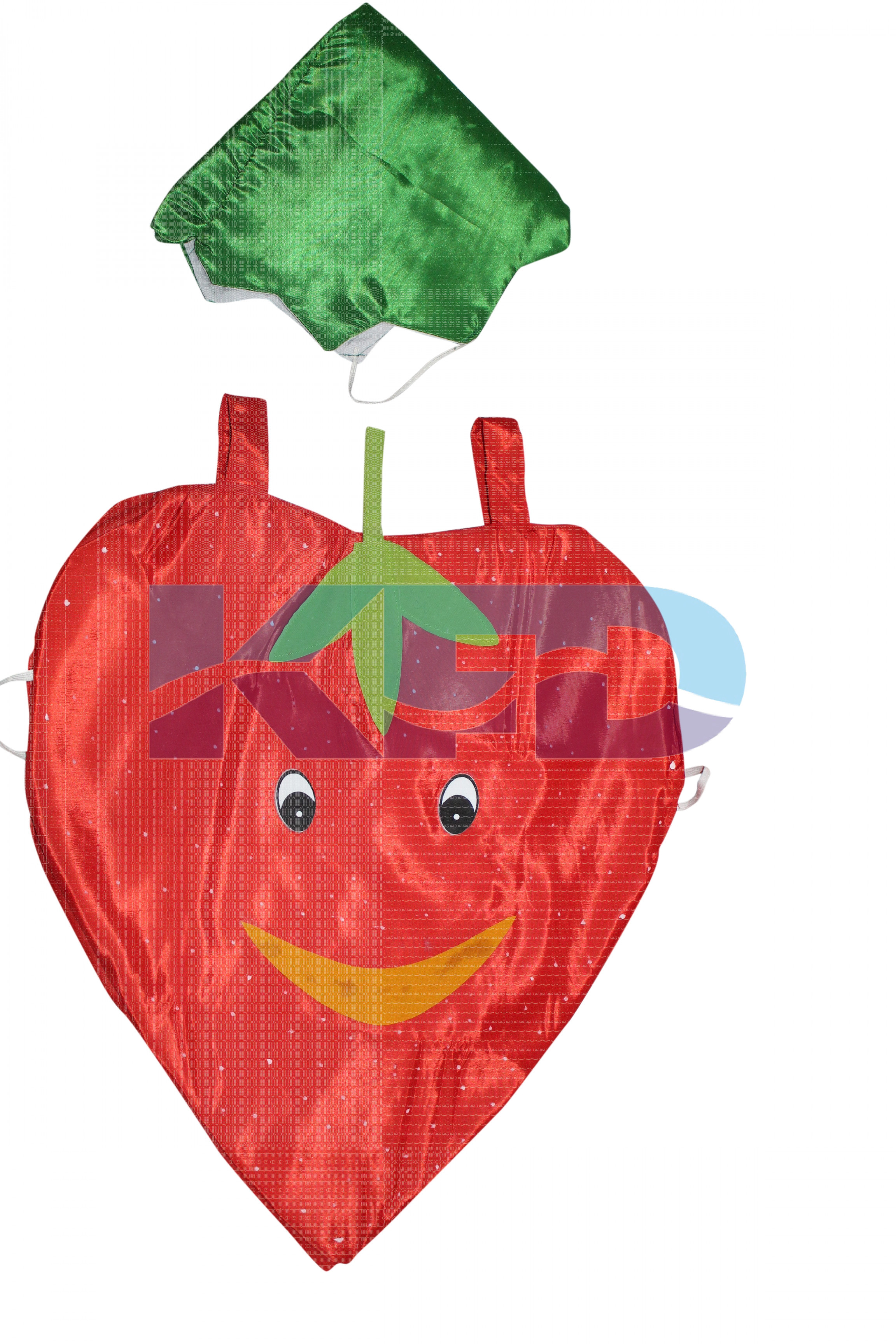 Strawberry Fruits Costume only cutout with Cap for Annual function/Theme Party/Competition/Stage Shows/Birthday Party Dress