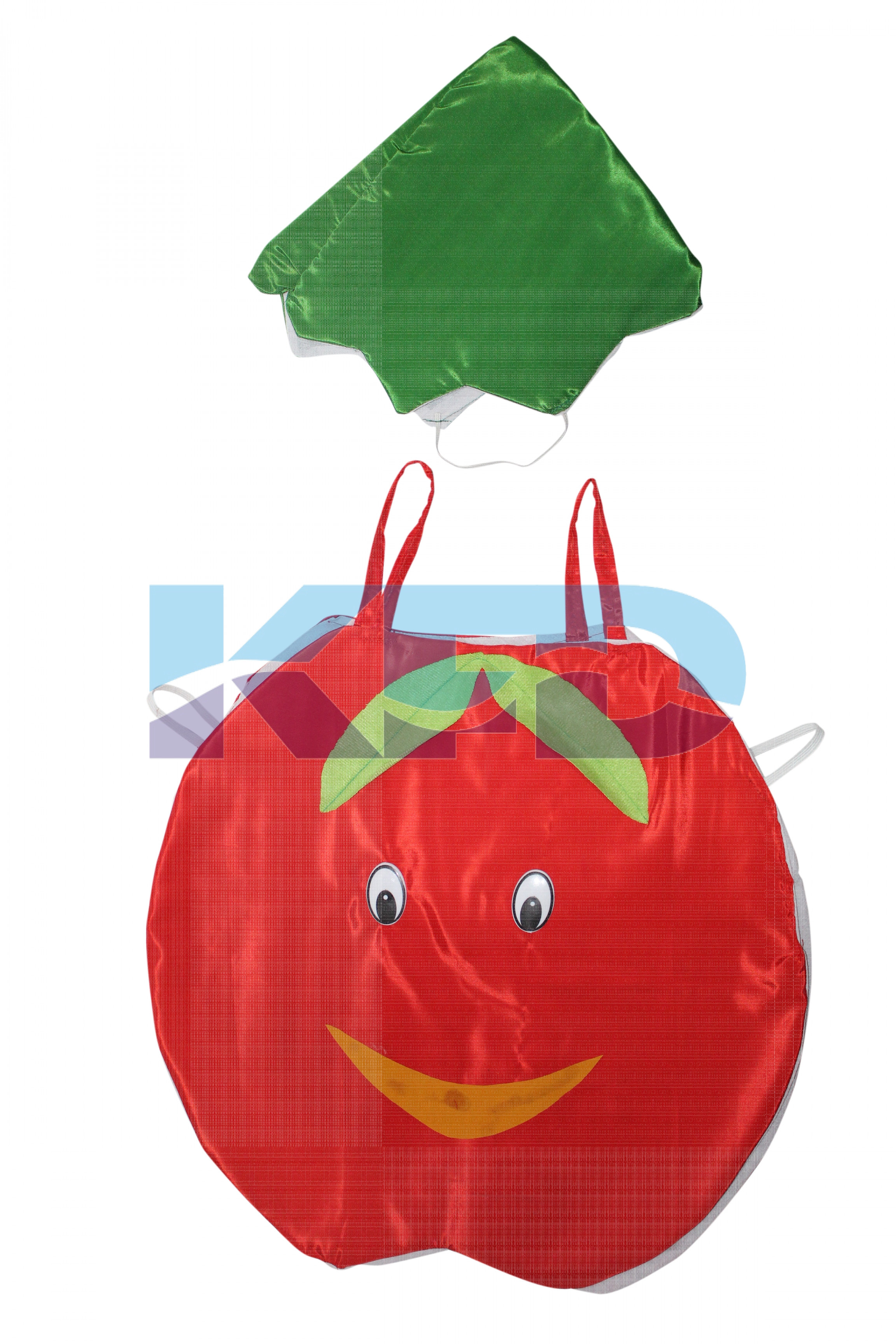 Apple Fruits Costume only cutout with Cap for Annual function/Theme Party/Competition/Stage Shows/Birthday Party Dress