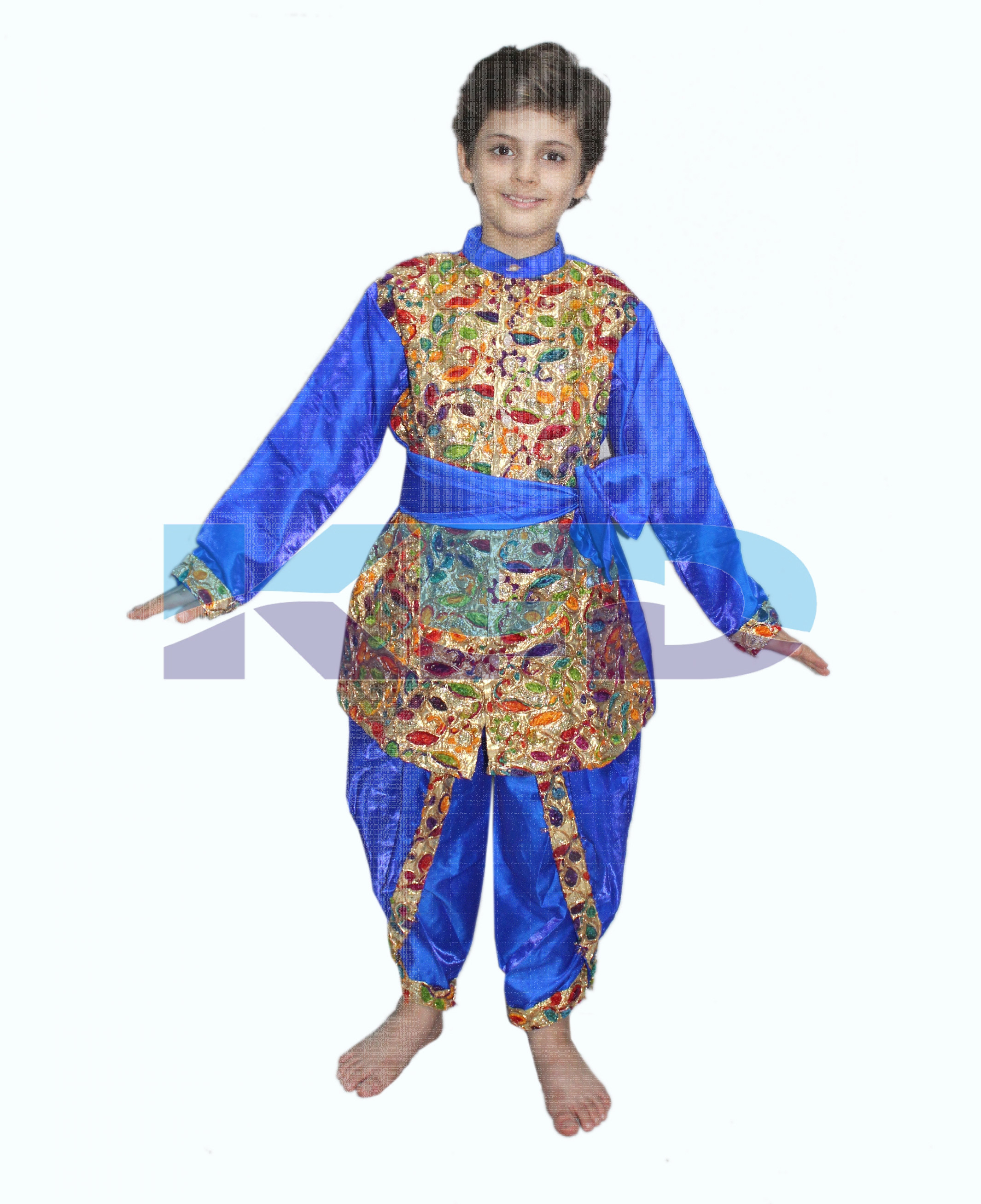 Gujrati Sherwani Costume of Indian State Traditional Wear For School Annual function/Theme Party/Competition/Stage Shows/Birthday Party Dress