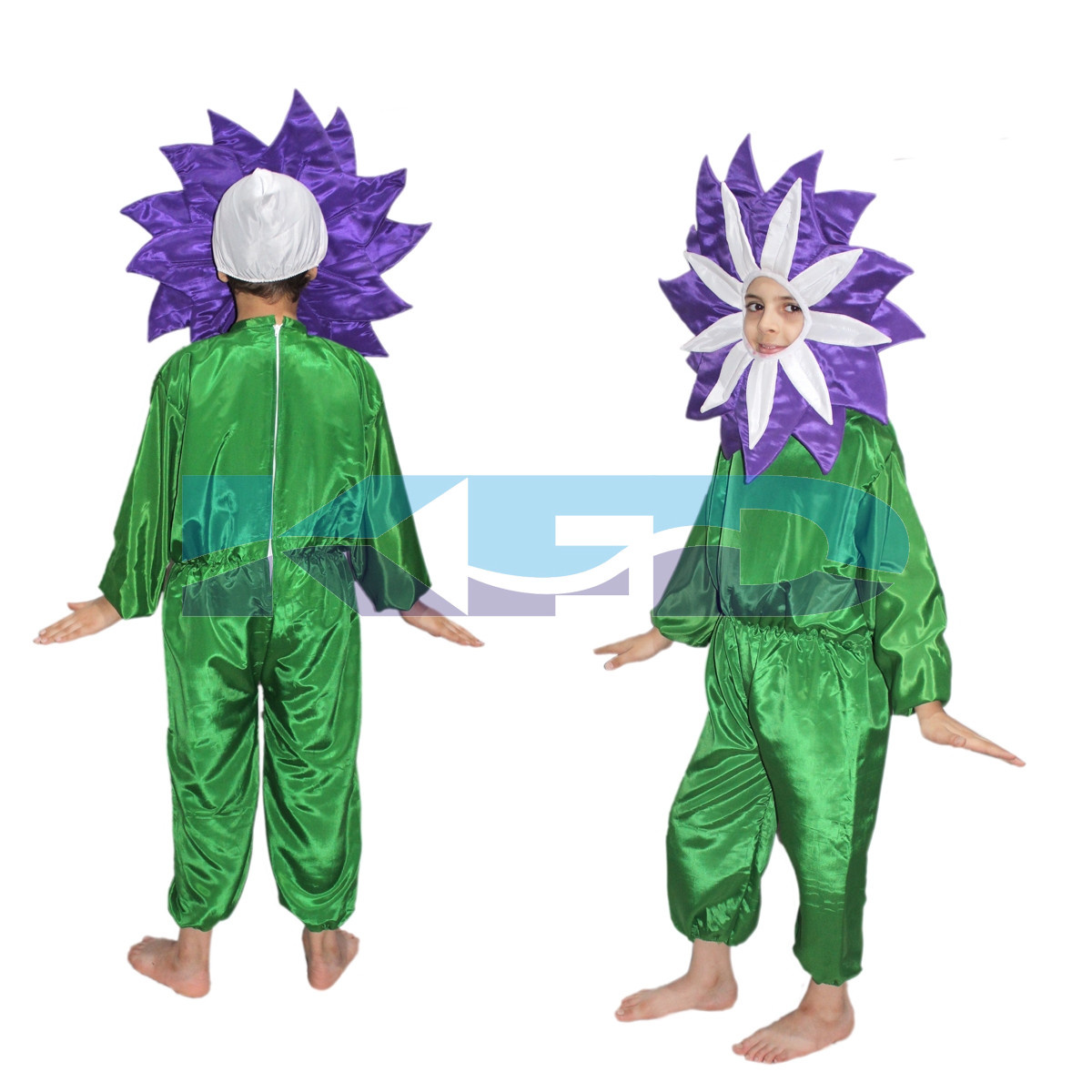 Purple flower Costume ,Nature Costume for School Annual function/Theme Party/Stage Shows/Competition/Birthday Party Dress