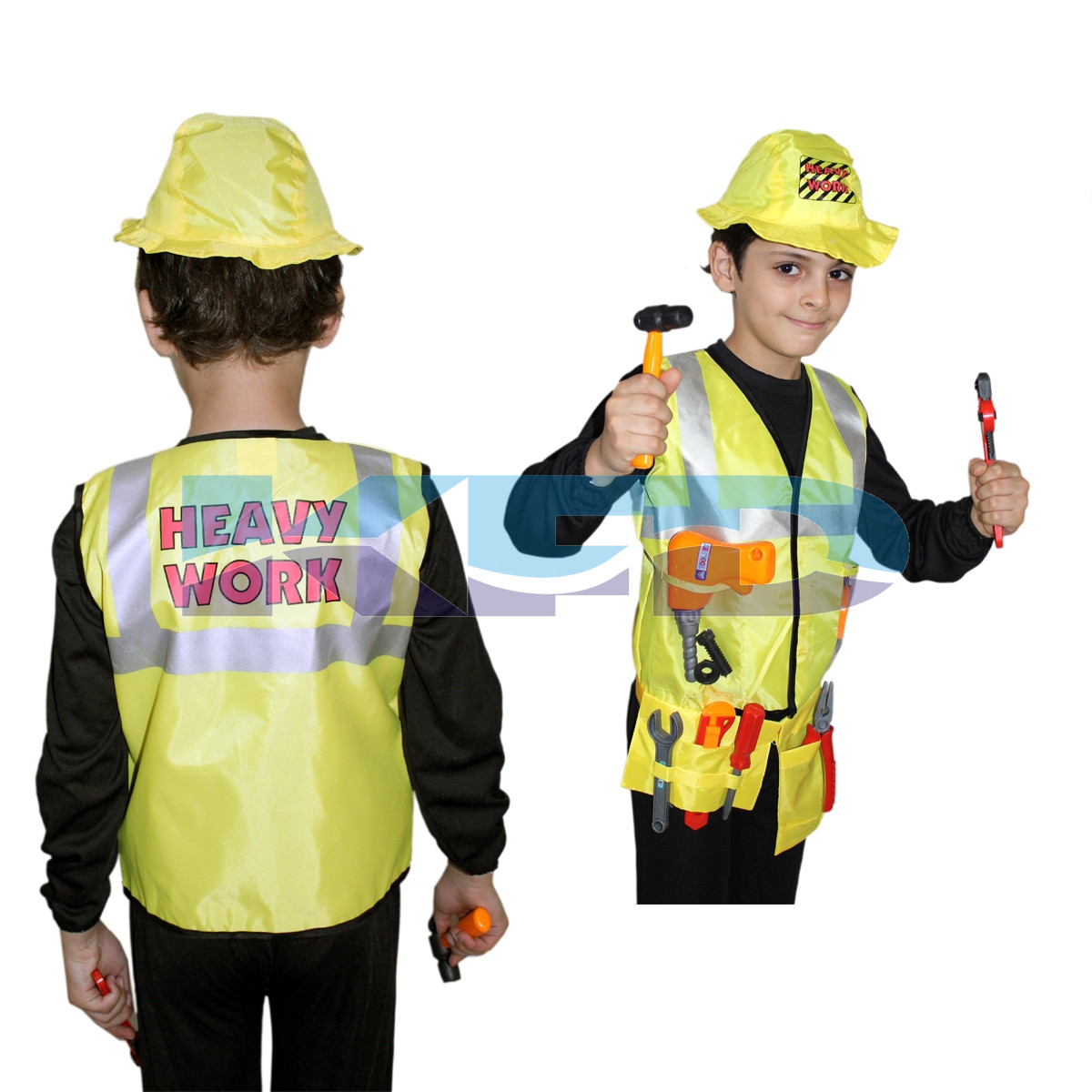 Engineer Costume,Worker Costume for School Annual function/Theme Party/Competition/Stage Shows/Birthday Party Dress