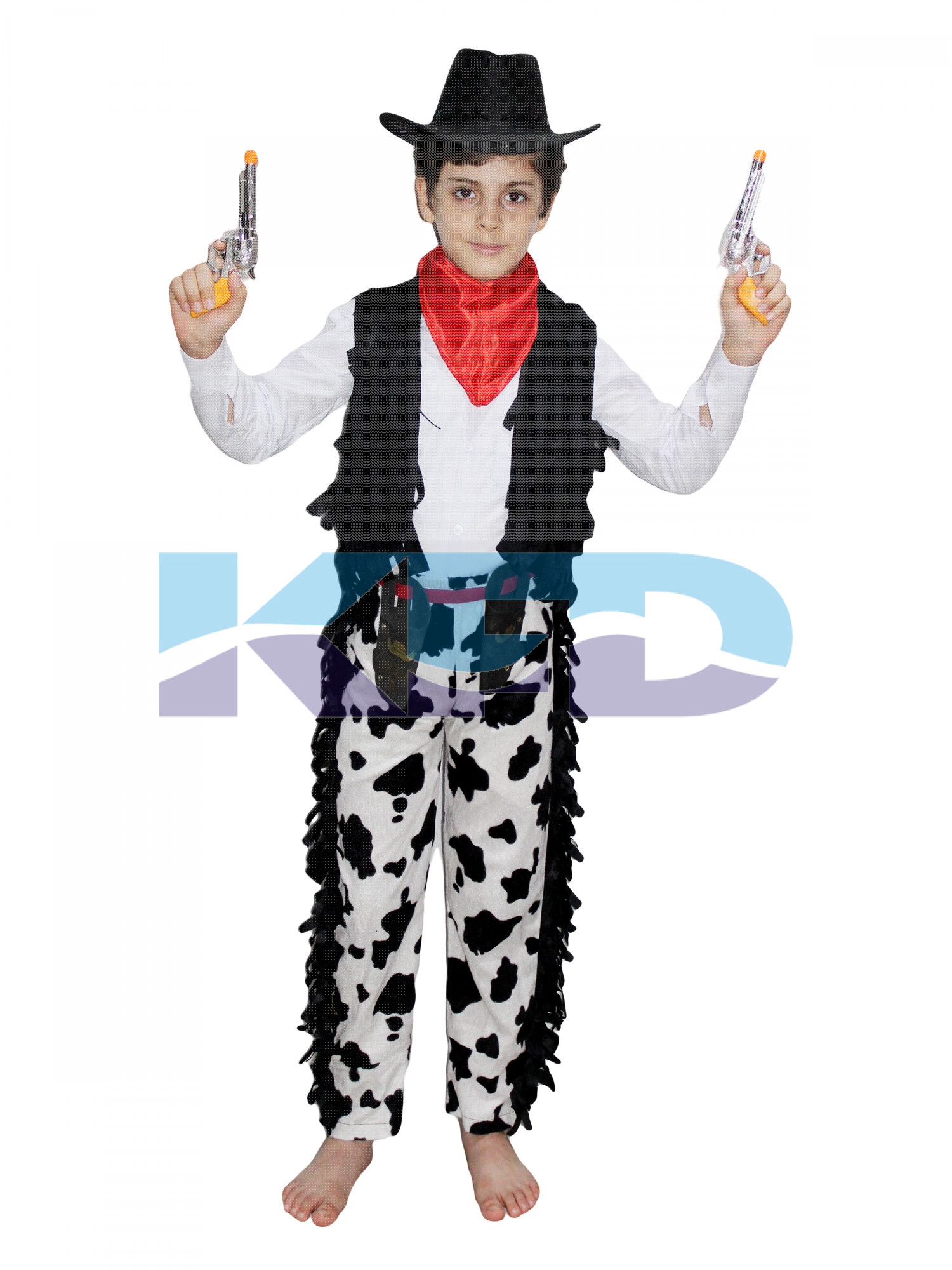 Cow Boy Printed Costume,Horse Riding Costume for Annual function/Theme Party/Competition/Stage Shows/Birthday Party Dress