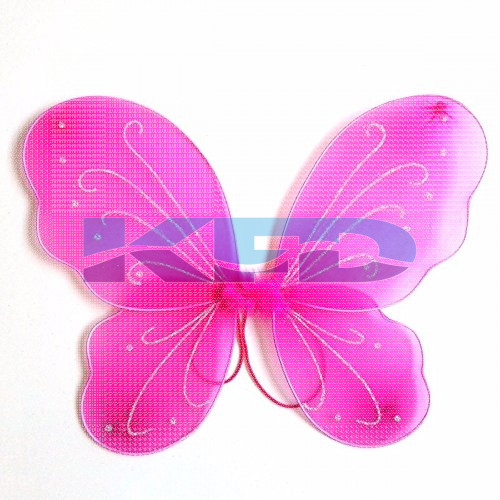 Magenta Butterfly Wings For Kids School Annual function/Theme Party/Competition/Stage Shows/Birthday Party Dress