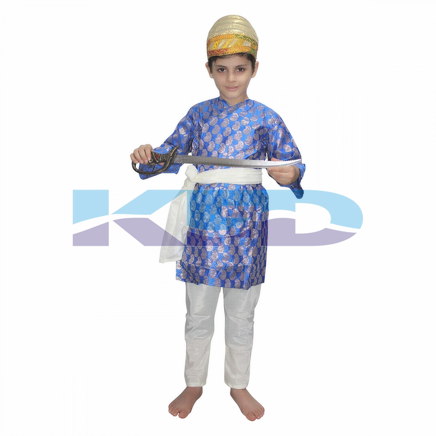 Shiva Ji Blue National Hero Costume for School Annual function/Theme Party/Competition/Stage Shows/Birthday Party Dress