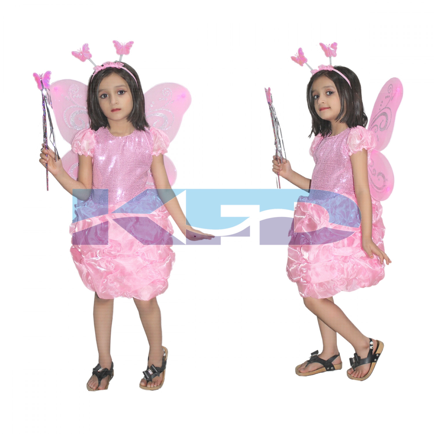 Pink Butterfly Insect Costume For Kids School Annual function/Theme Party/Competition/Stage Shows Dress