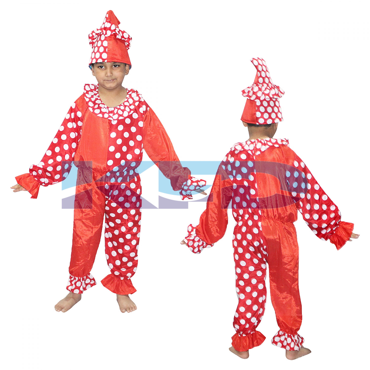 Clown Fancy dress for kids,Cartoon Costume for Annual function/Theme Party/Stage Shows/Competition/Birthday Party Dress