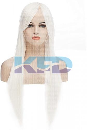 Ladies Hair Wig White Color