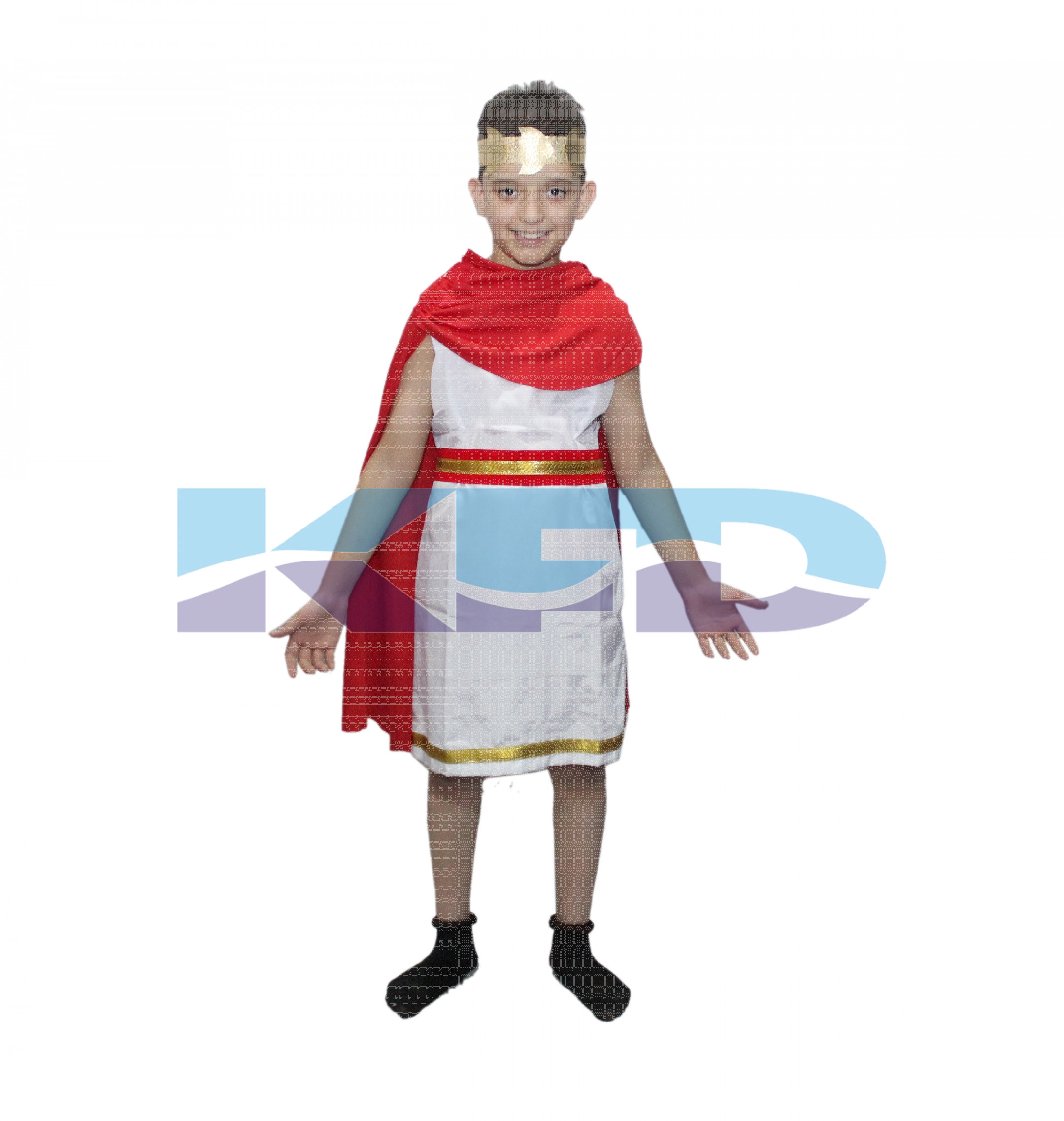 Roman Greek boy Costume Of International Traditional Wear For School Annual function/Egyptian dress/Theme Party/Competition/Stage Shows/Birthday Party Dress