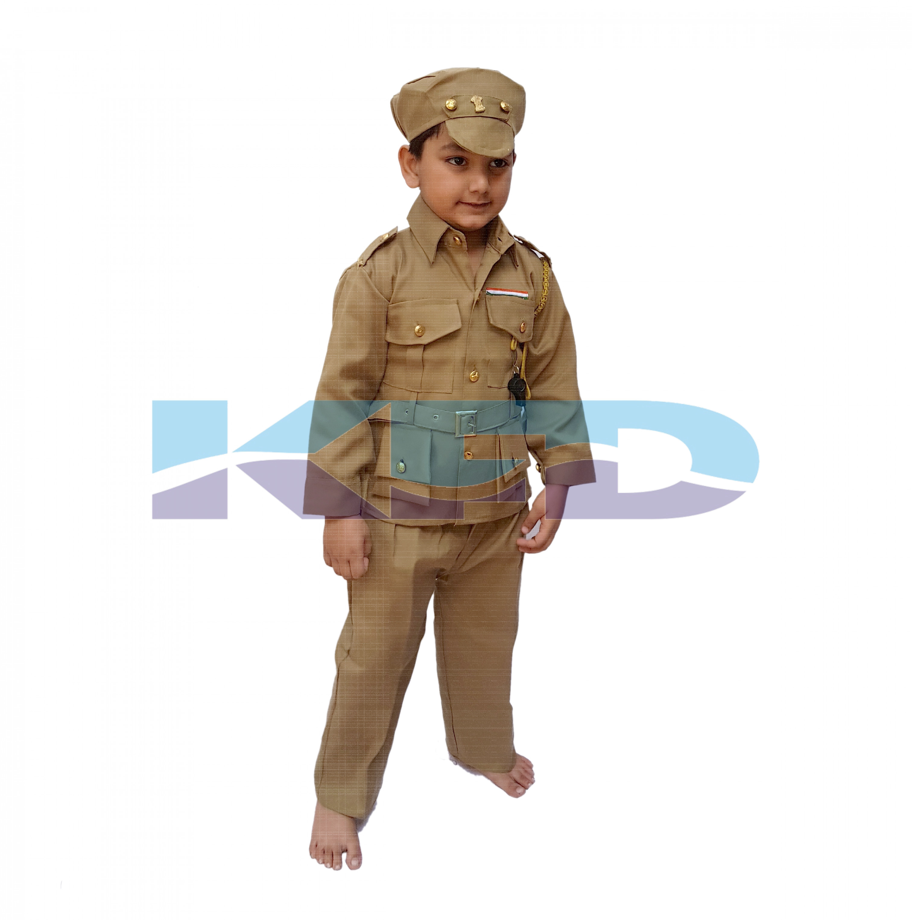 Police Man Fancy Dress For Kids,Our Helper Costume For Annual Function/Theme Party/Competition/Stage Shows Dress