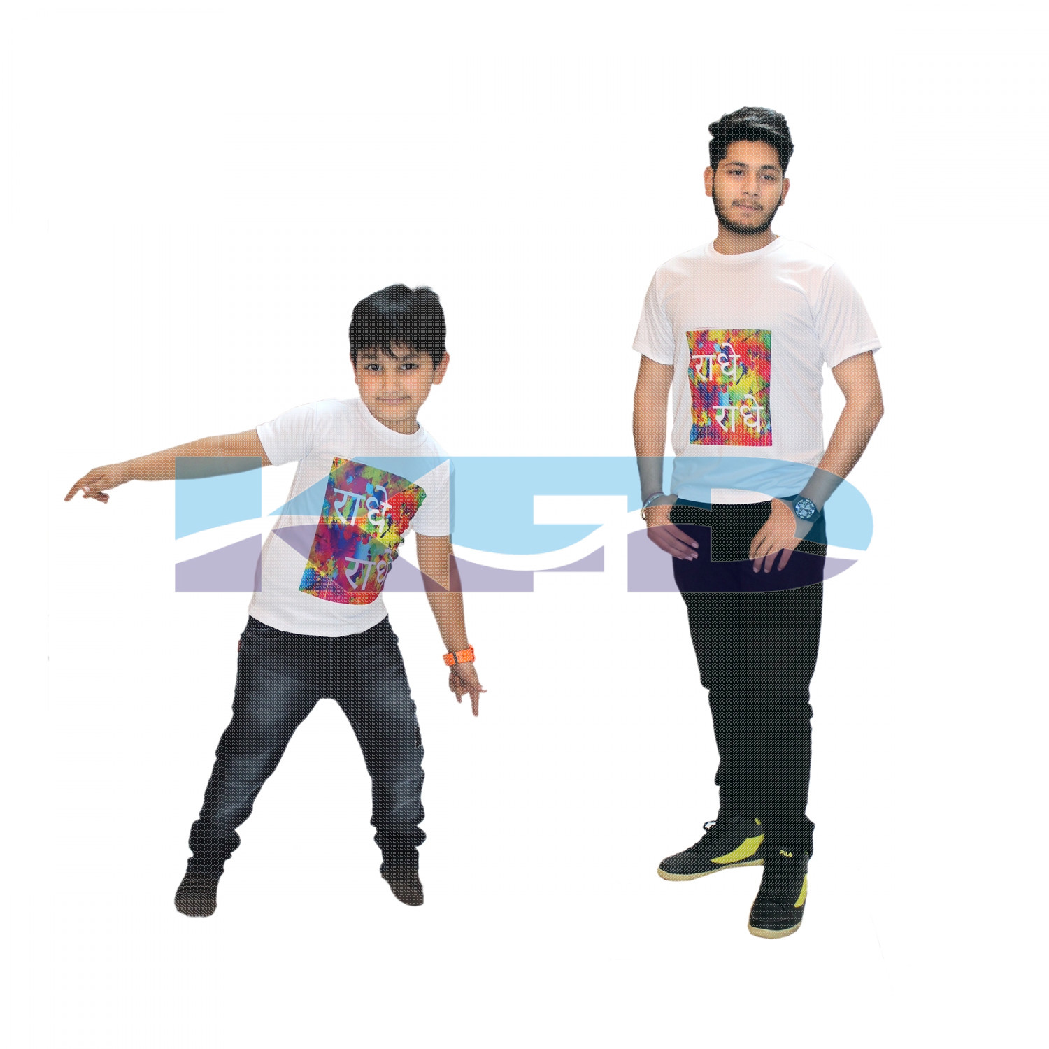 Radhe T-shirt Costume For Kids/Holi day/School Annual function/Theme Party/Competition/Stage Shows/Birthday Party Dress