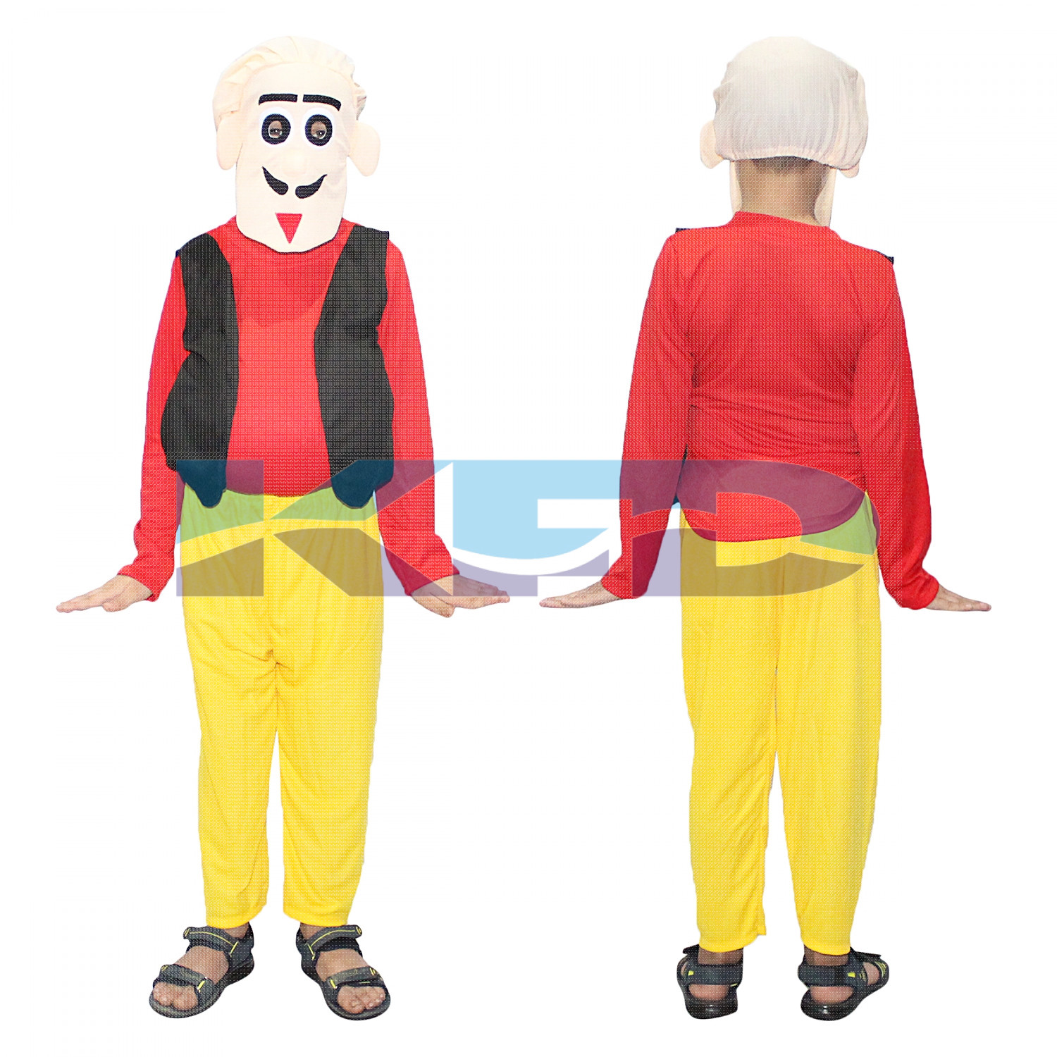 Motu Fancy dress for kids,Cartoon Costume For Annual function/Theme Party/Stage Shows/Competition/Birthday Party Dress