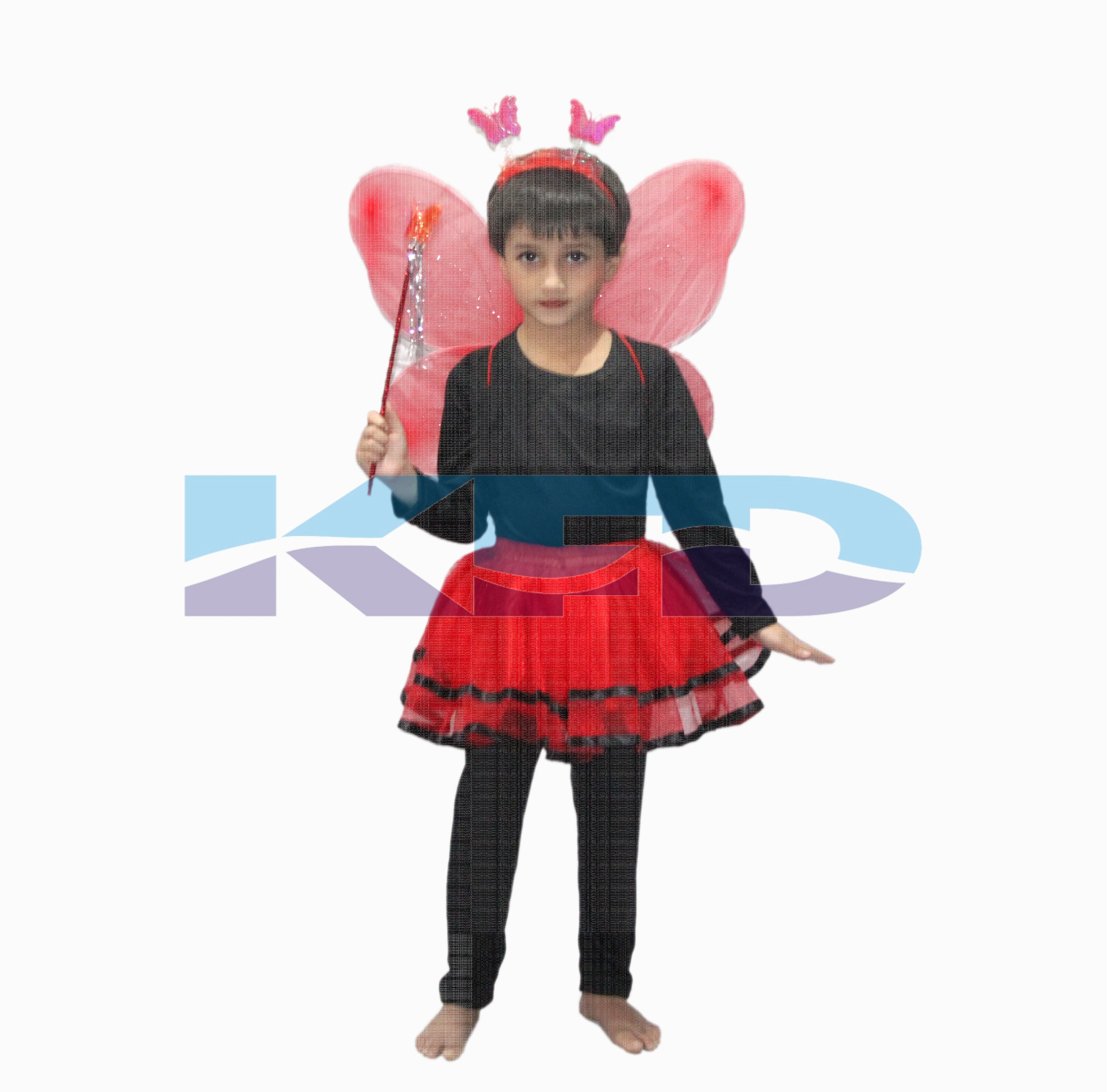 Red Skirt With Butterfly Wings For kids/Bobra Toddler Fancy Dress/School Annual function/Theme Party/Competition/Stage Shows/Birthday Party Dress