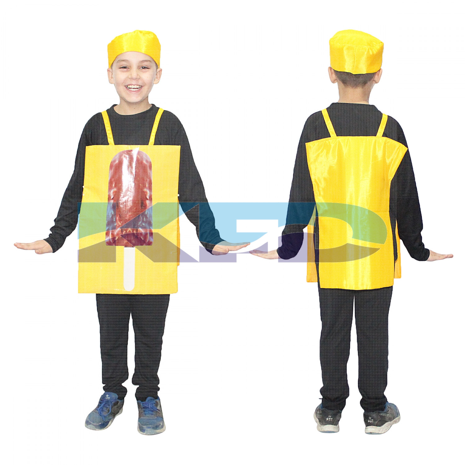 Ice Cream Fancy Dress/Chocobar Fancy Dress/Chocolate Fancy Dress/Junk Food Costume/For Kids Annual function/Theme Party/Competition/Stage Shows/Birthday Party Dress
