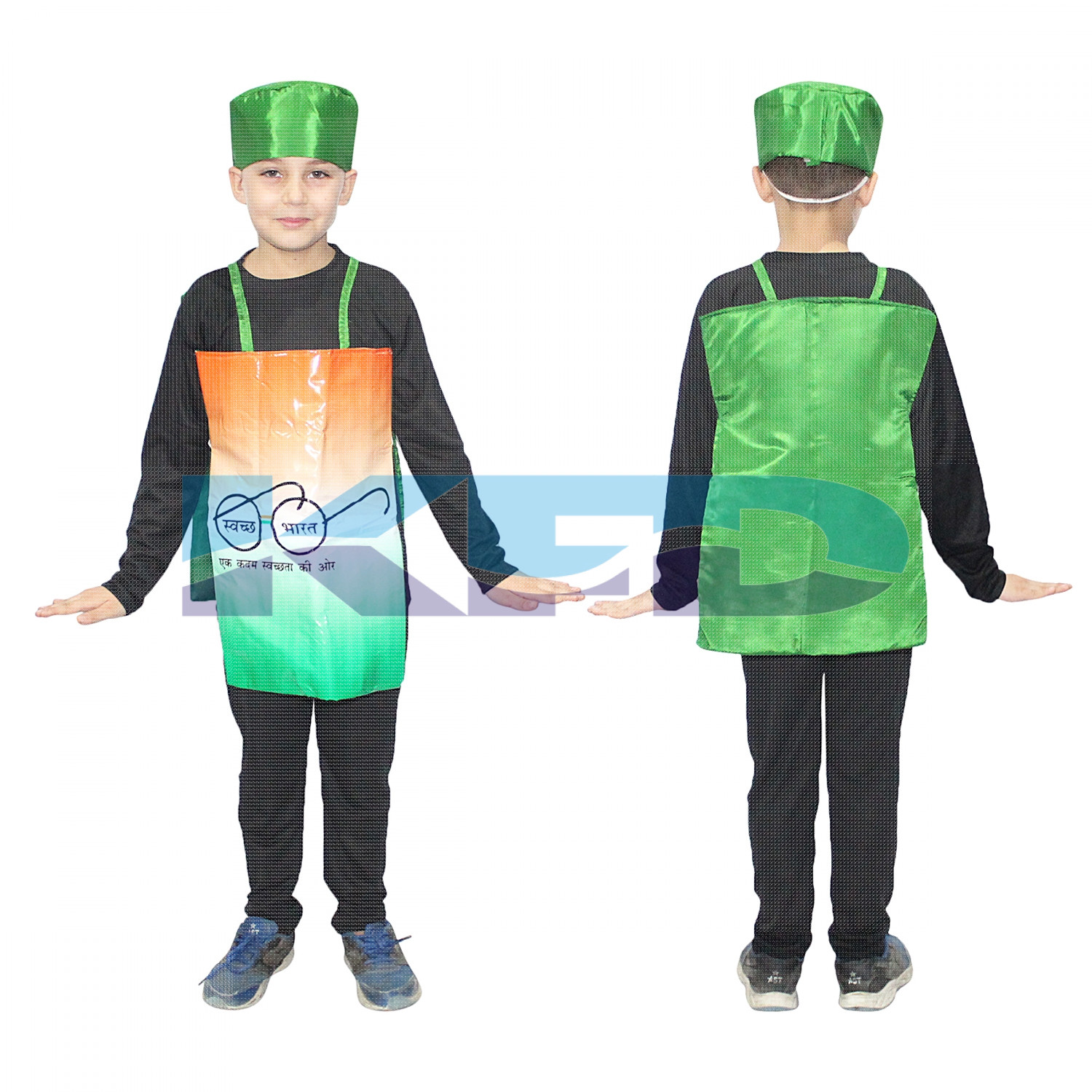 Clean India Fancy Dress/Swach Bharat Abhiyan Fancy Dress For Kids/Social Massage Costume For Annual function/Theme Party/Competition/Stage Shows/Birthday Party Dress