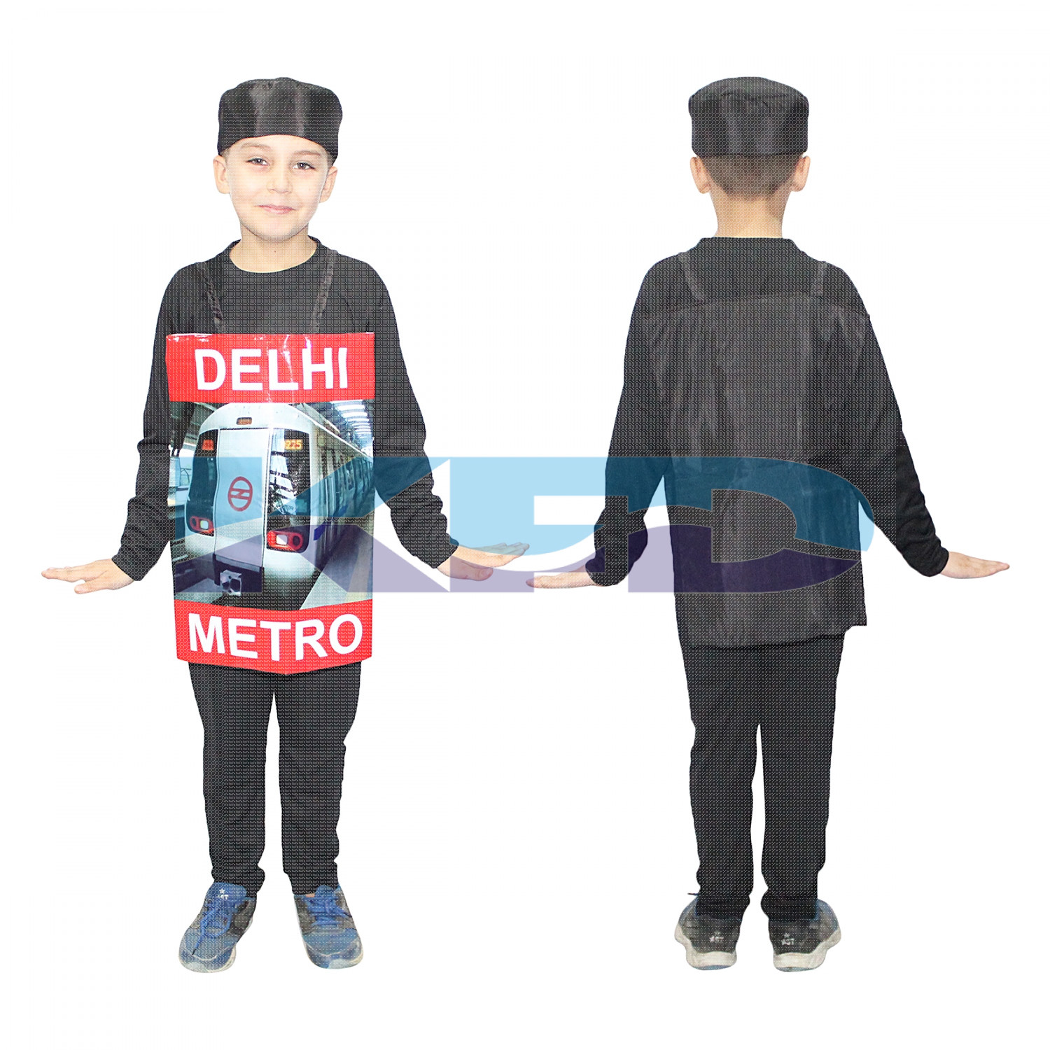 Metro Train Costume For Kids/Vehicle Fancy Dress For Kids/Delhi Metro Costume/For Kids Annual function/Theme Party/Competition/Stage Shows/Birthday Party Dress